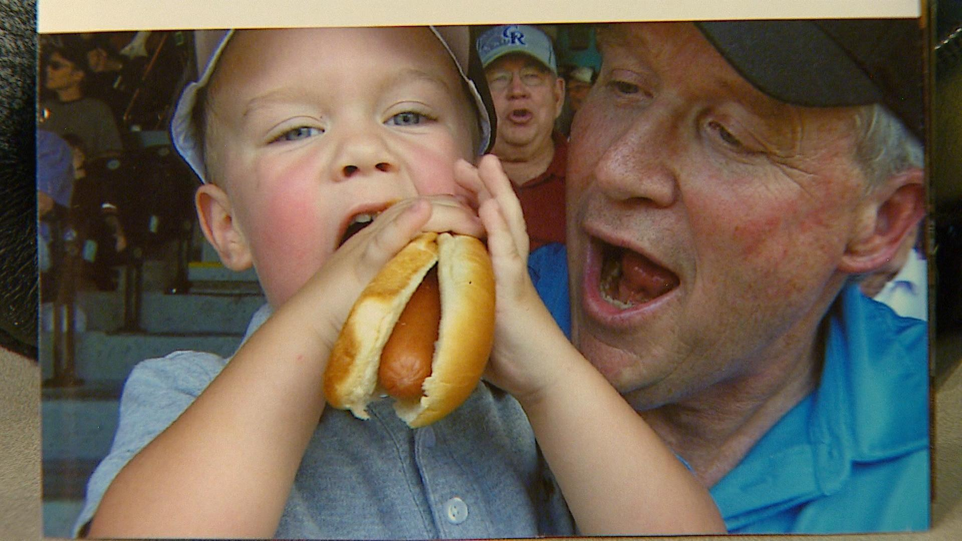 Murphy Huston with his grandson (credit: CBS)