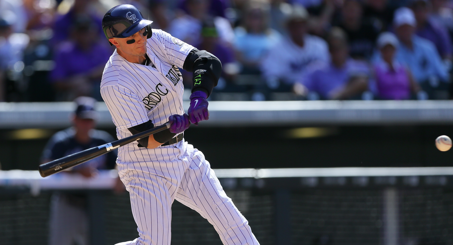 Troy Tulowitzki hits a home run during the sixth inning against the Atlanta Braves at Coors Field on July 12, 2015. (Photo by Justin Edmonds/Getty Images)