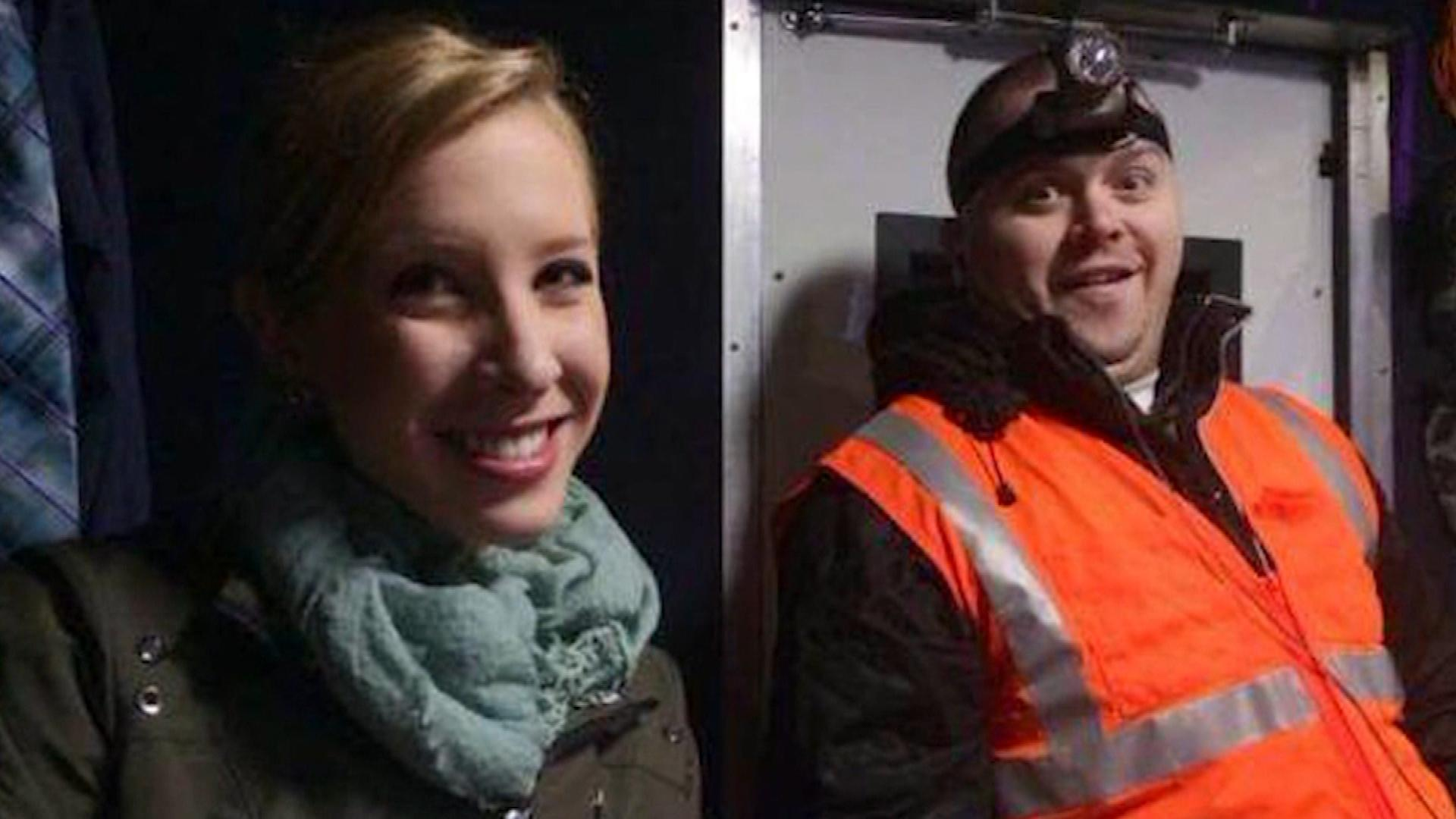 Alison Parker and Adam Ward (credit: CBS)