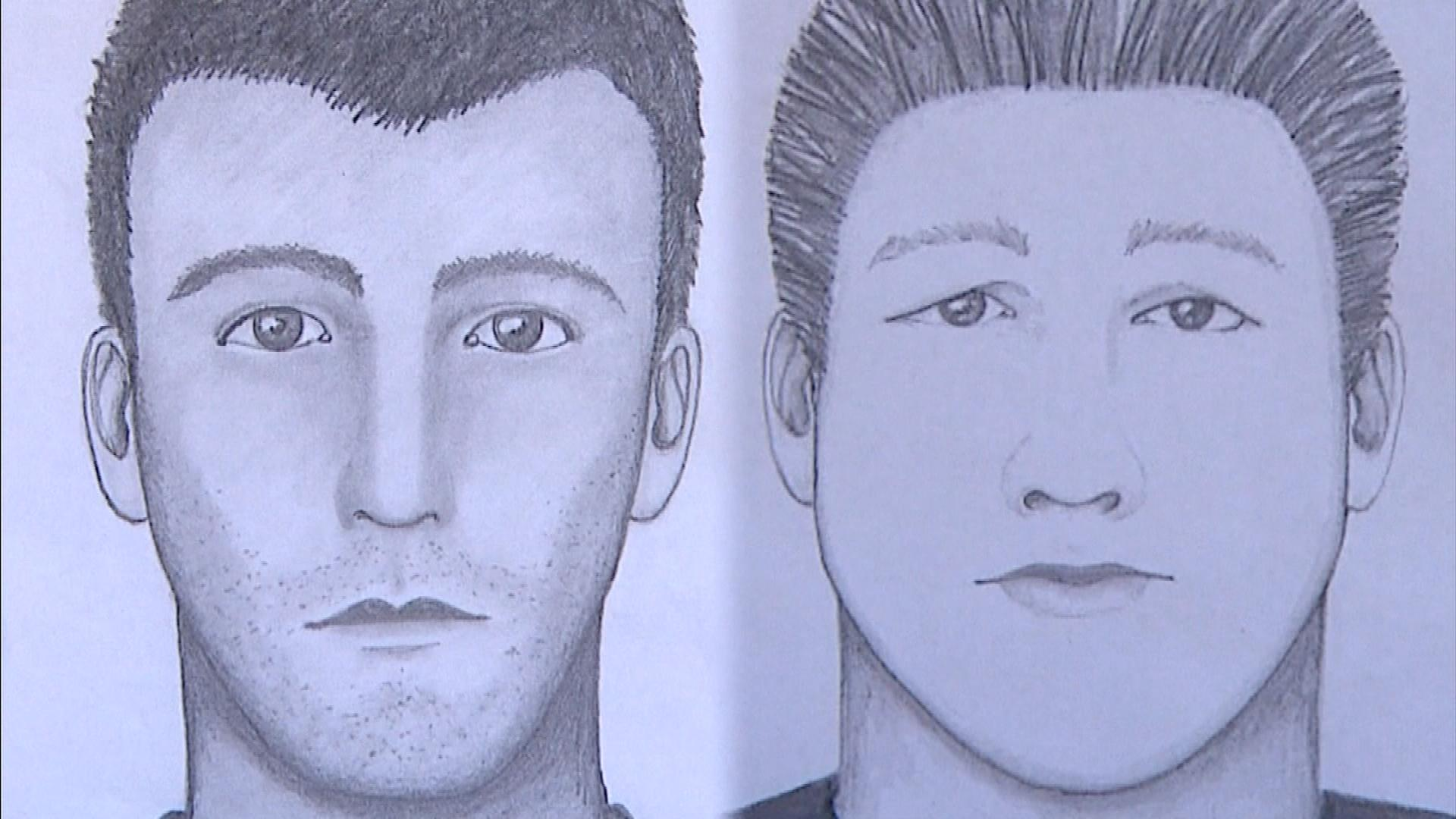 Two different sketches of the burglar (credit: Boulder Police)
