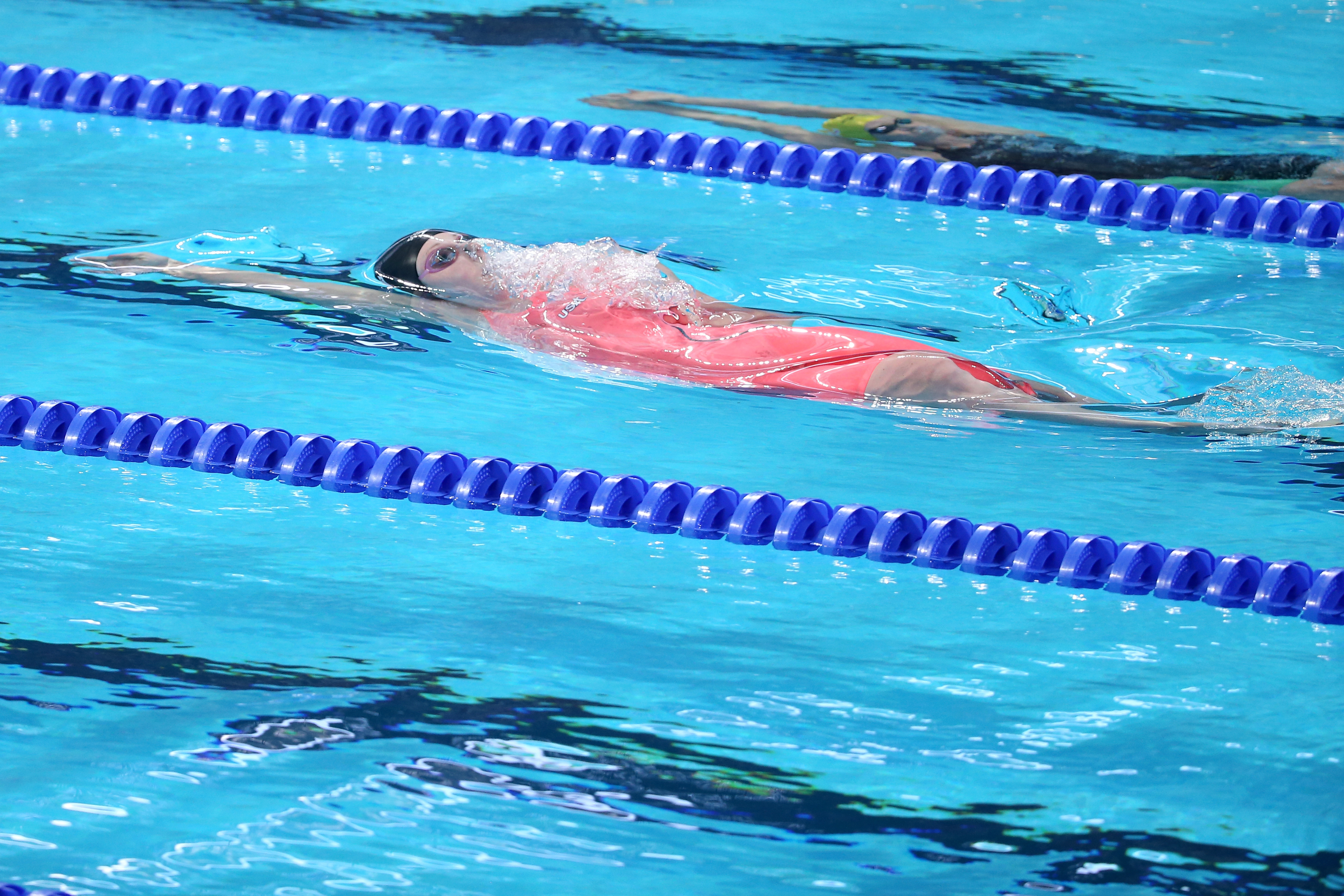 Missy Franklin of the United States competes in the Women's 100m Backstroke Final on day eleven of the 16th FINA World Championships at the Kazan Arena on August 4, 2015 in Kazan, Russia. (Photo by Streeter Lecka/Getty Images)