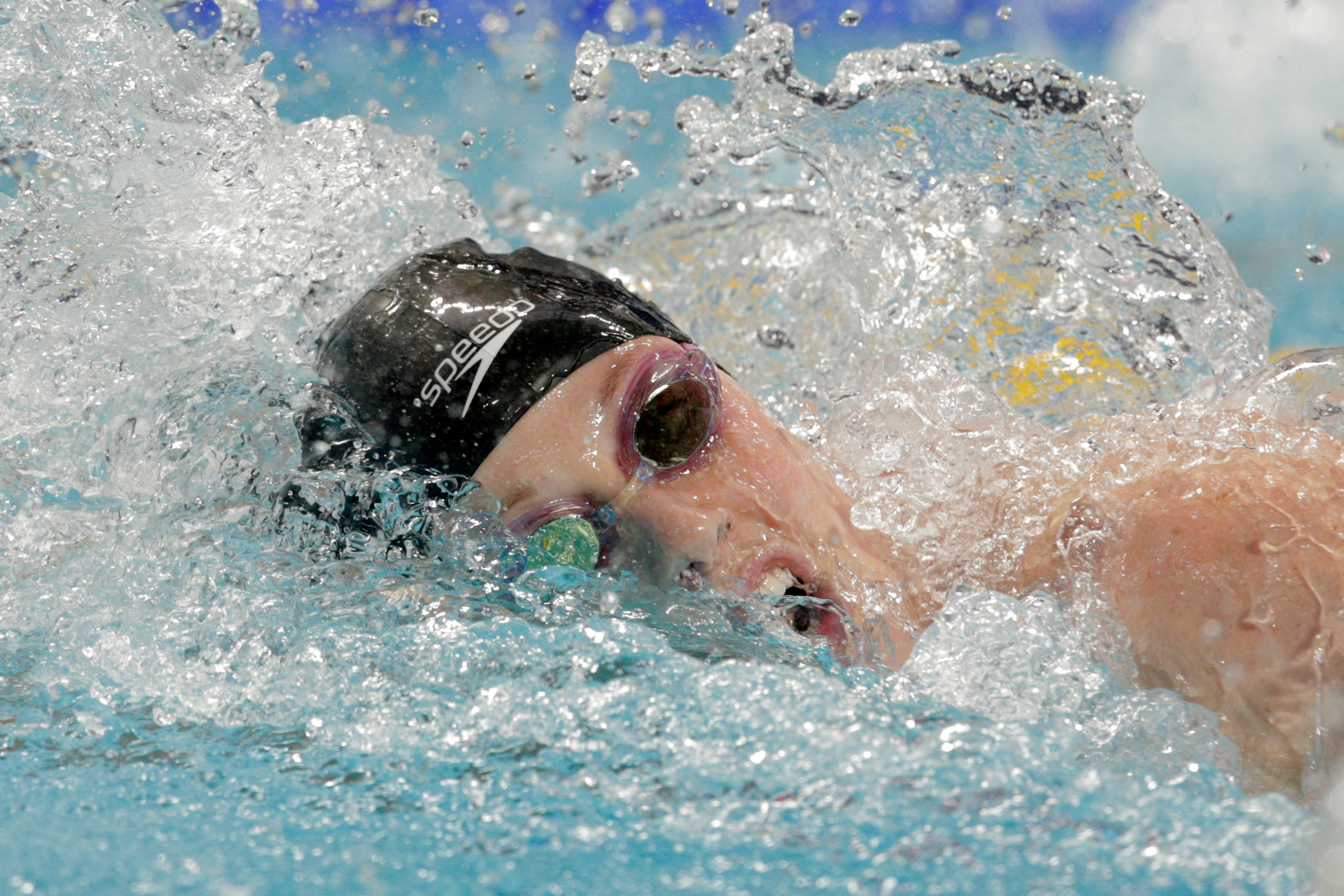 Missy Franklin of the United States competes in the Women's 200m Freestyle Final on day twelve of the 16th FINA World Championships at the Kazan Arena on August 5, 2015 in Kazan, Russia.  (Photo by Adam Pretty/Getty Images)