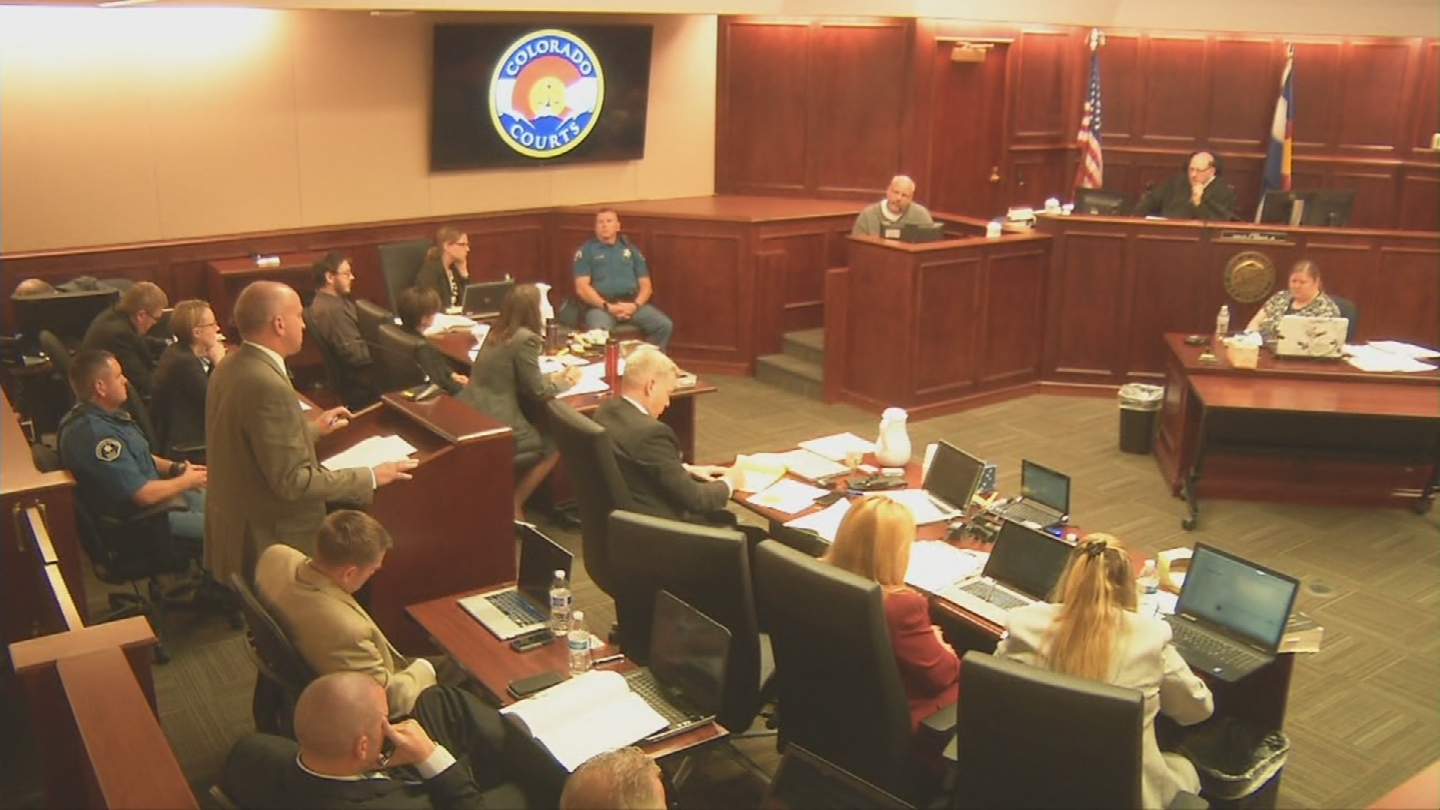 Tom Sullivan, father of theater shooting victim Alex Sullivan, testifies on Tuesday (credit: CBS)