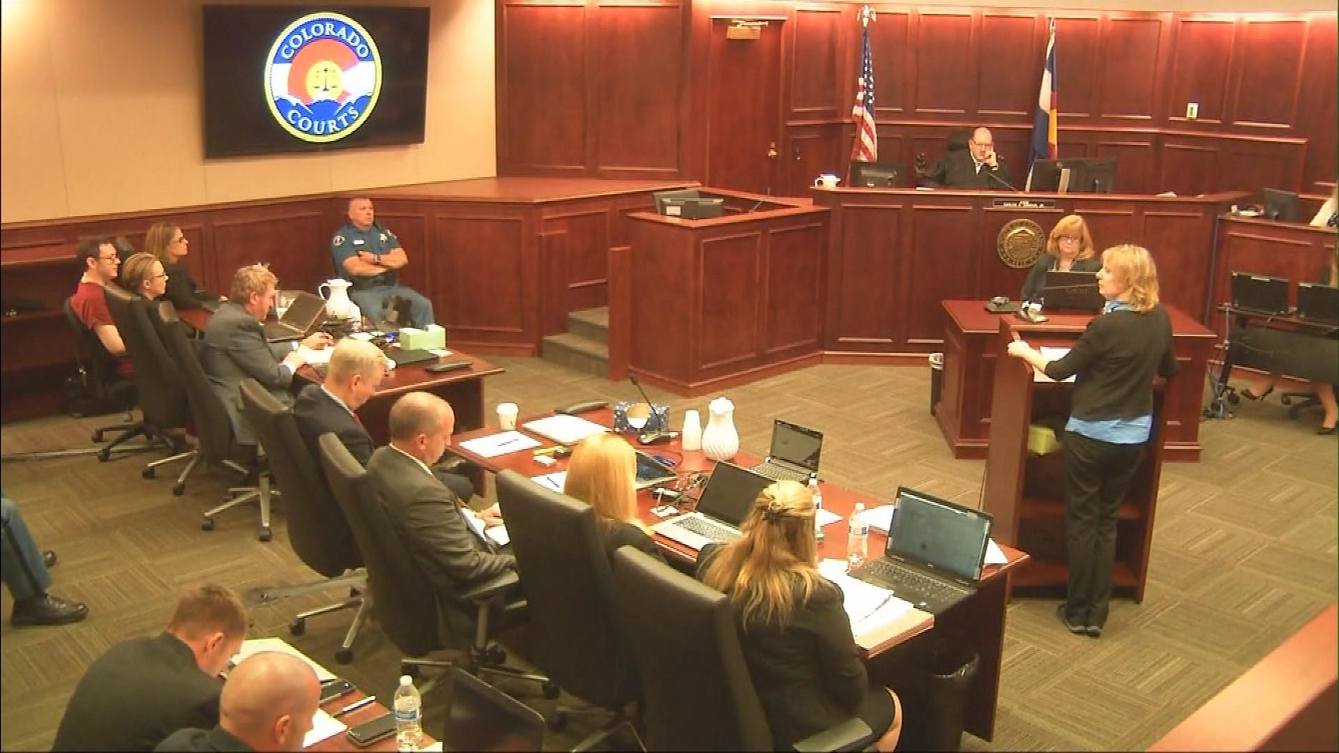An image from the courtroom during the sentencing hearing on Aug. 24, 2015 (credit: CBS)