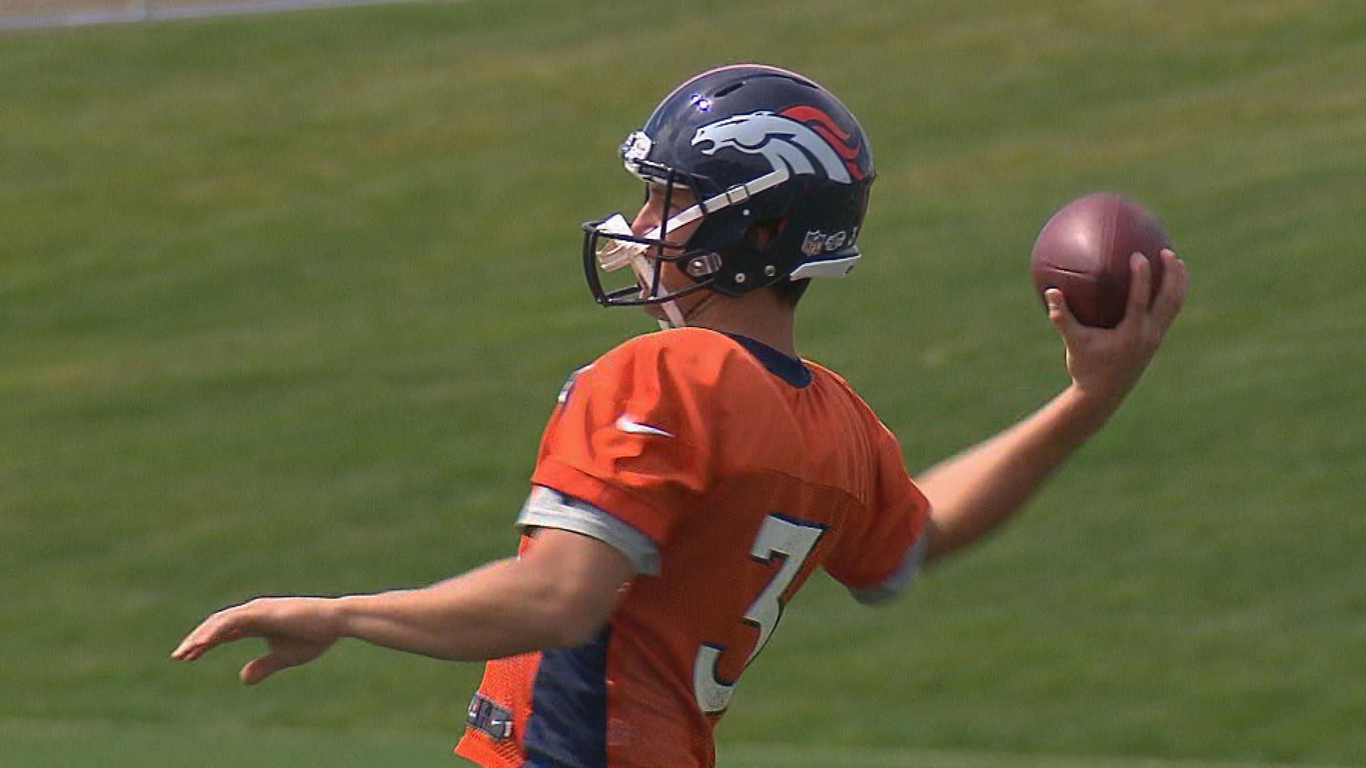 Trevor Siemian at practice on Monday (credit: David Wille)