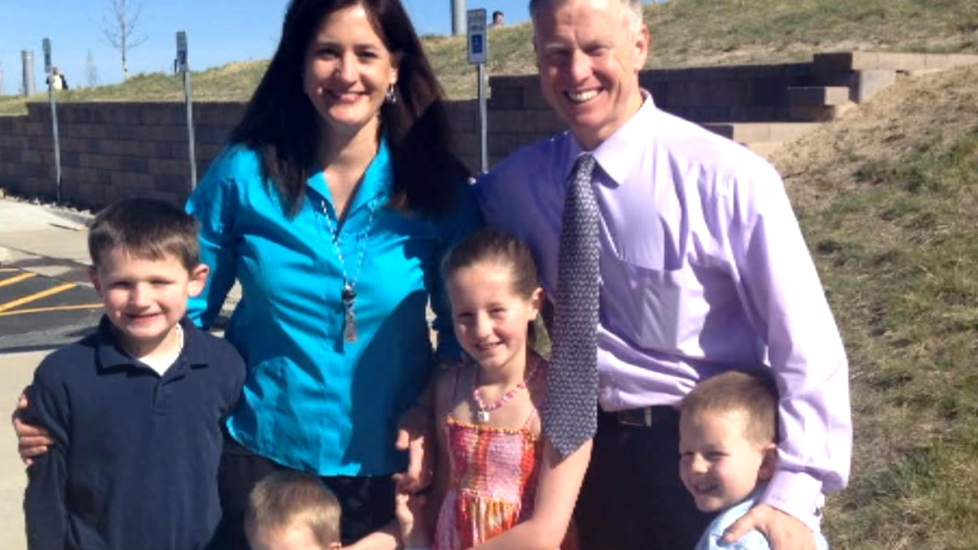 George Brauchler with his family (credit: CBS)