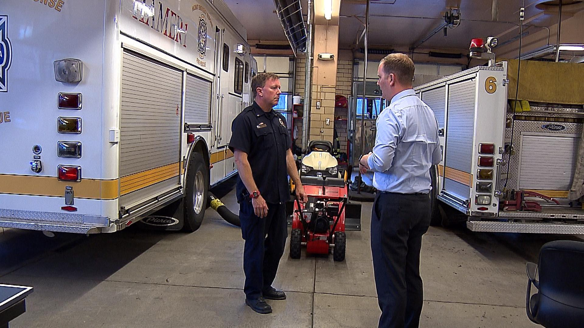 Denver Fire Department Lt. Shawn Armstrong talks with CBS4's Jeff Todd (credit: CBS)