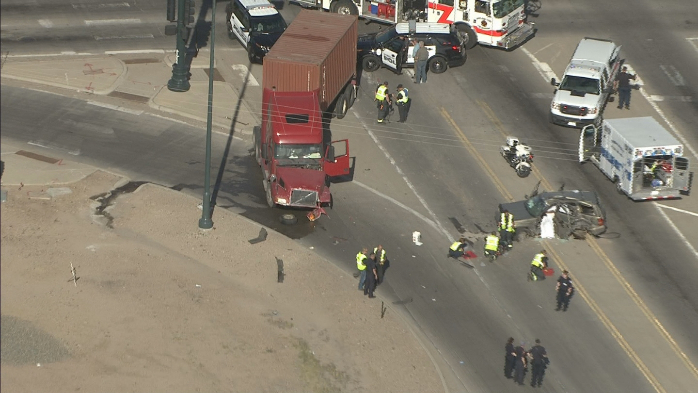 Copter4 flew over a crash in Commerce City where the driver of a Jeep was killed.  (credit: CBS)