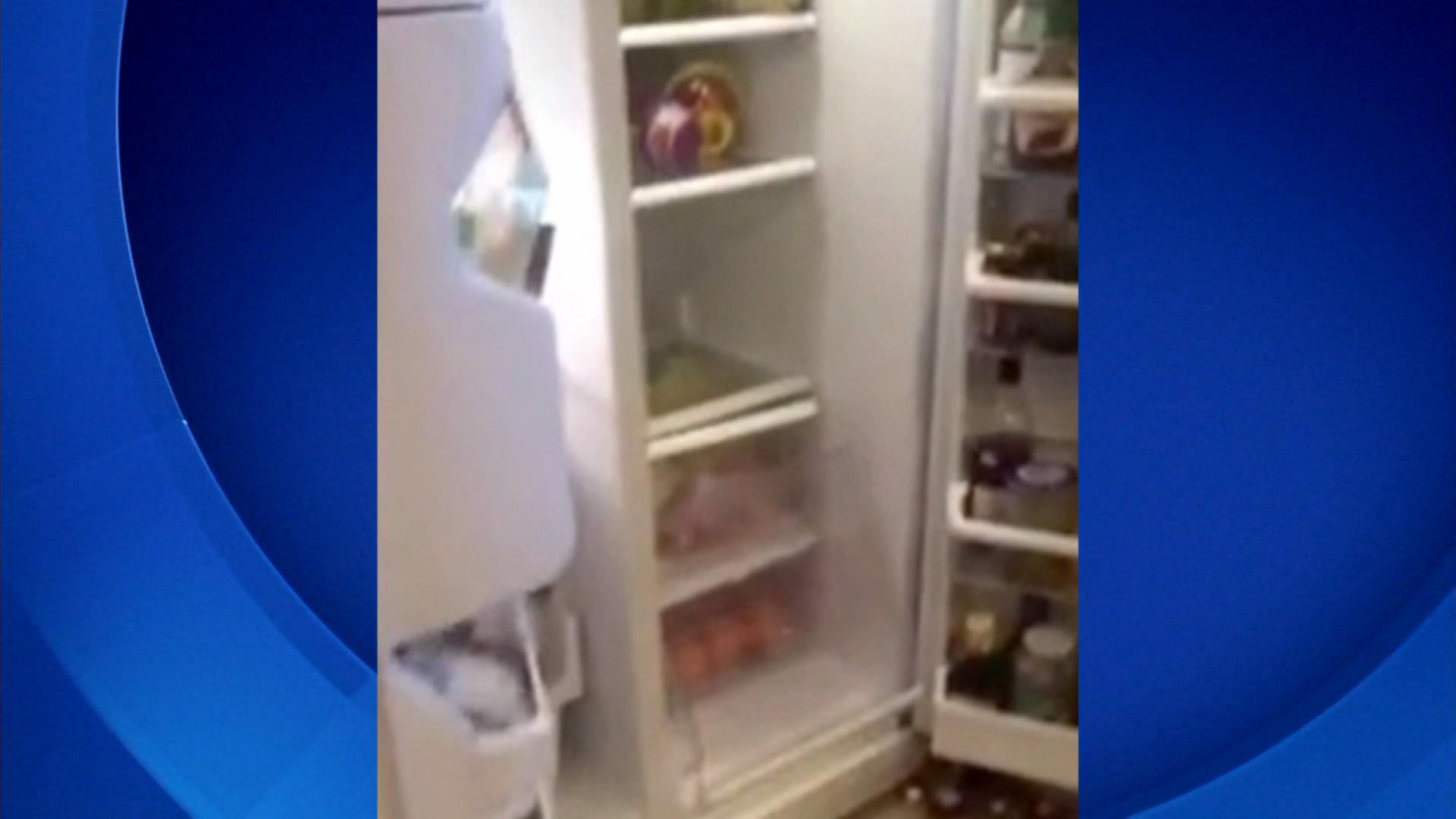 Gwynneth Mayeux's ransacked kitchen (credit: CBS)