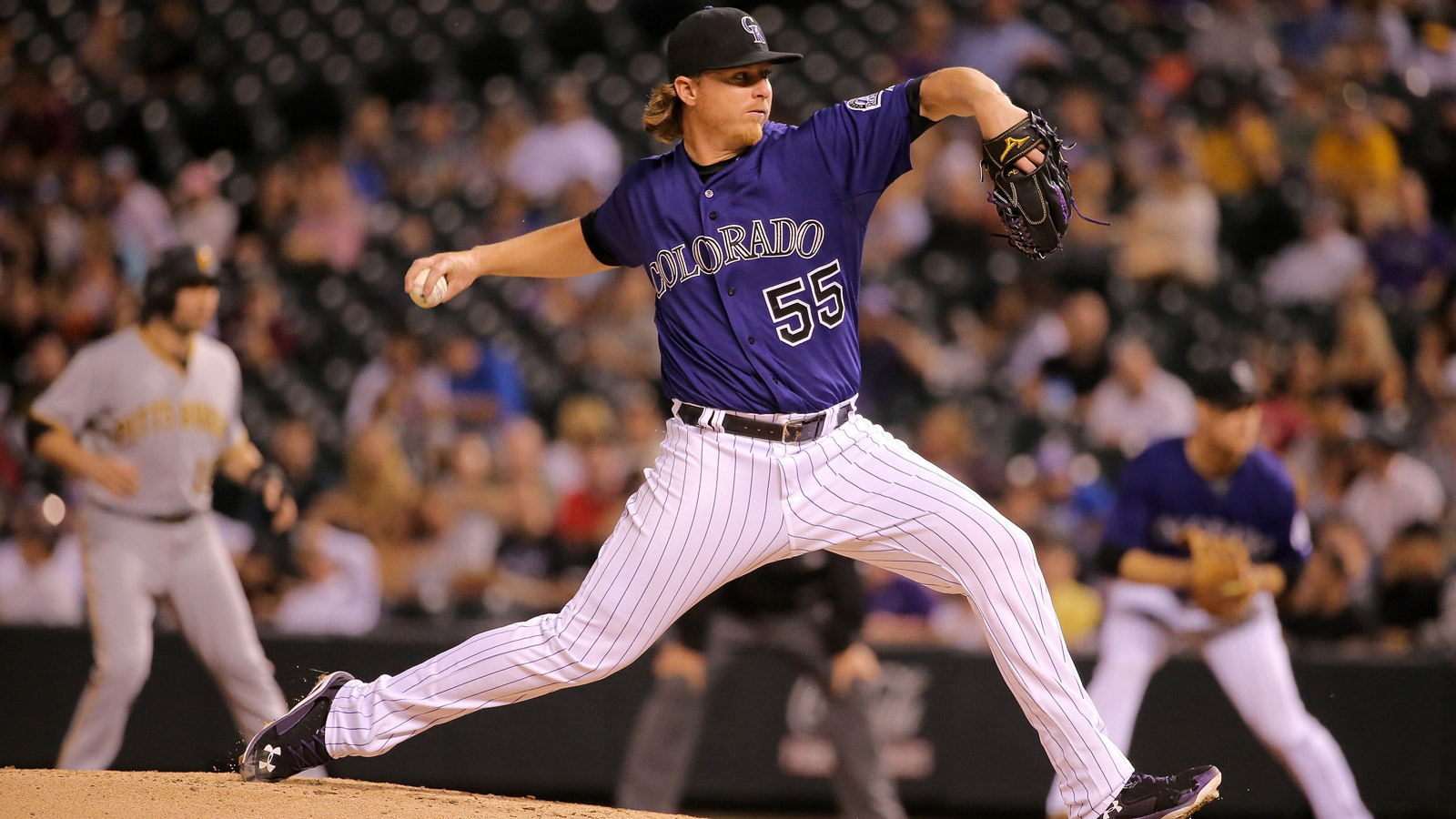 Jon Gray of the Colorado Rockies delivers against the Pittsburgh Pirates at Coors Field on Sept. 21, 2015. (Photo by Doug Pensinger/Getty Images)