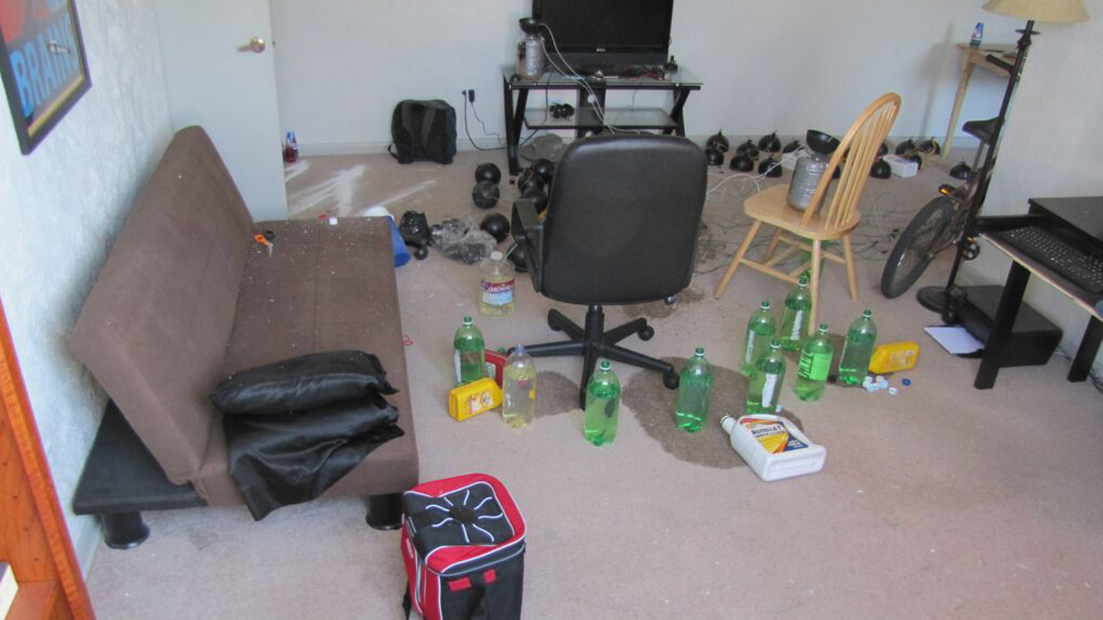Booby traps found inside James Holmes apartment (credit: 18th Judicial District Attorney)