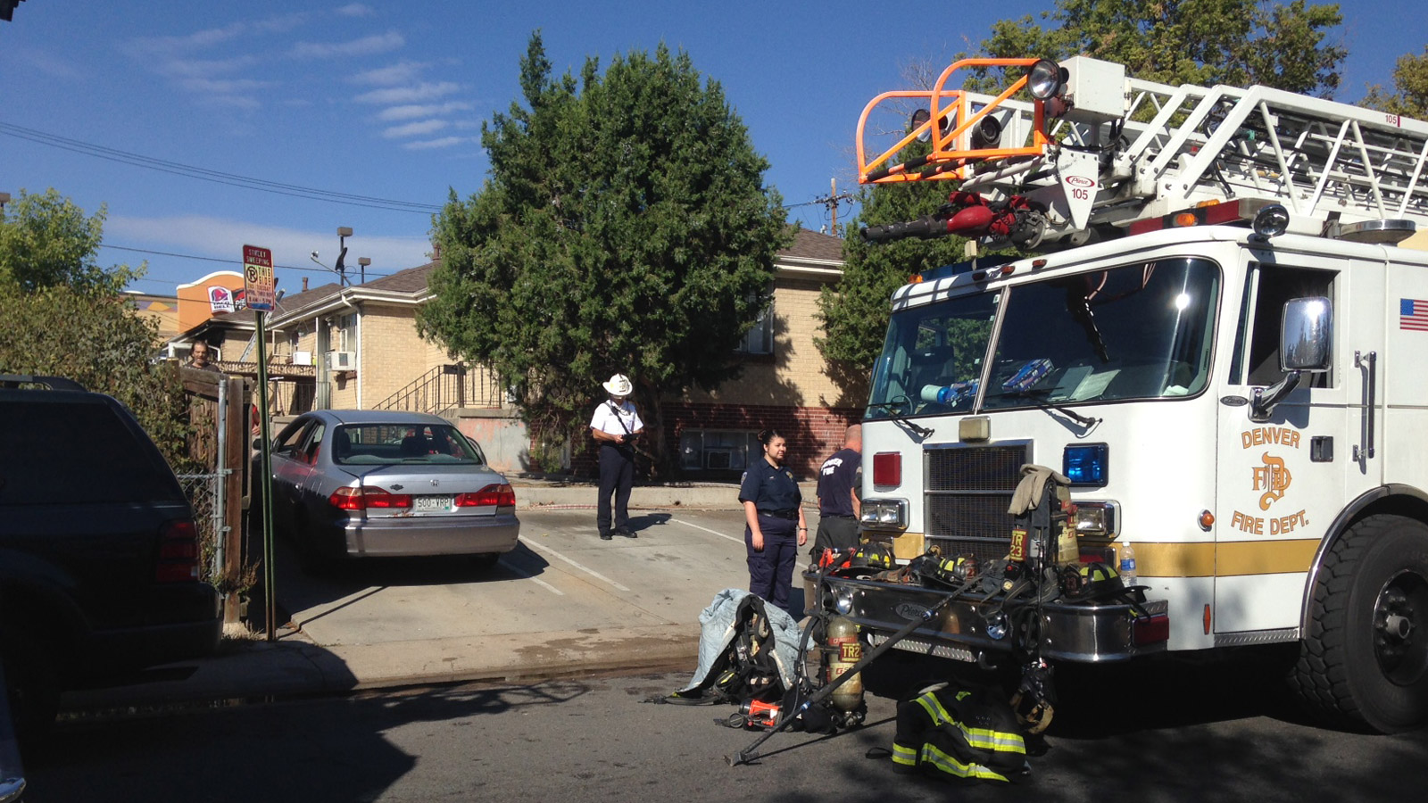 Firefighters rushed to a burning home in the 350 block of S. Eliot on Tuesday morning (credit: CBS)