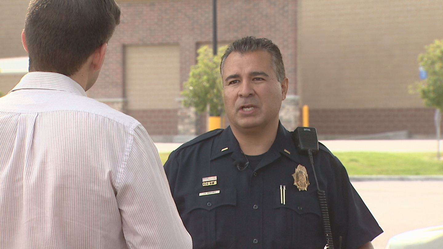Denver Police Lt. Jeff Martinez talks with CBS4's Mark Taylor (credit: CBS)