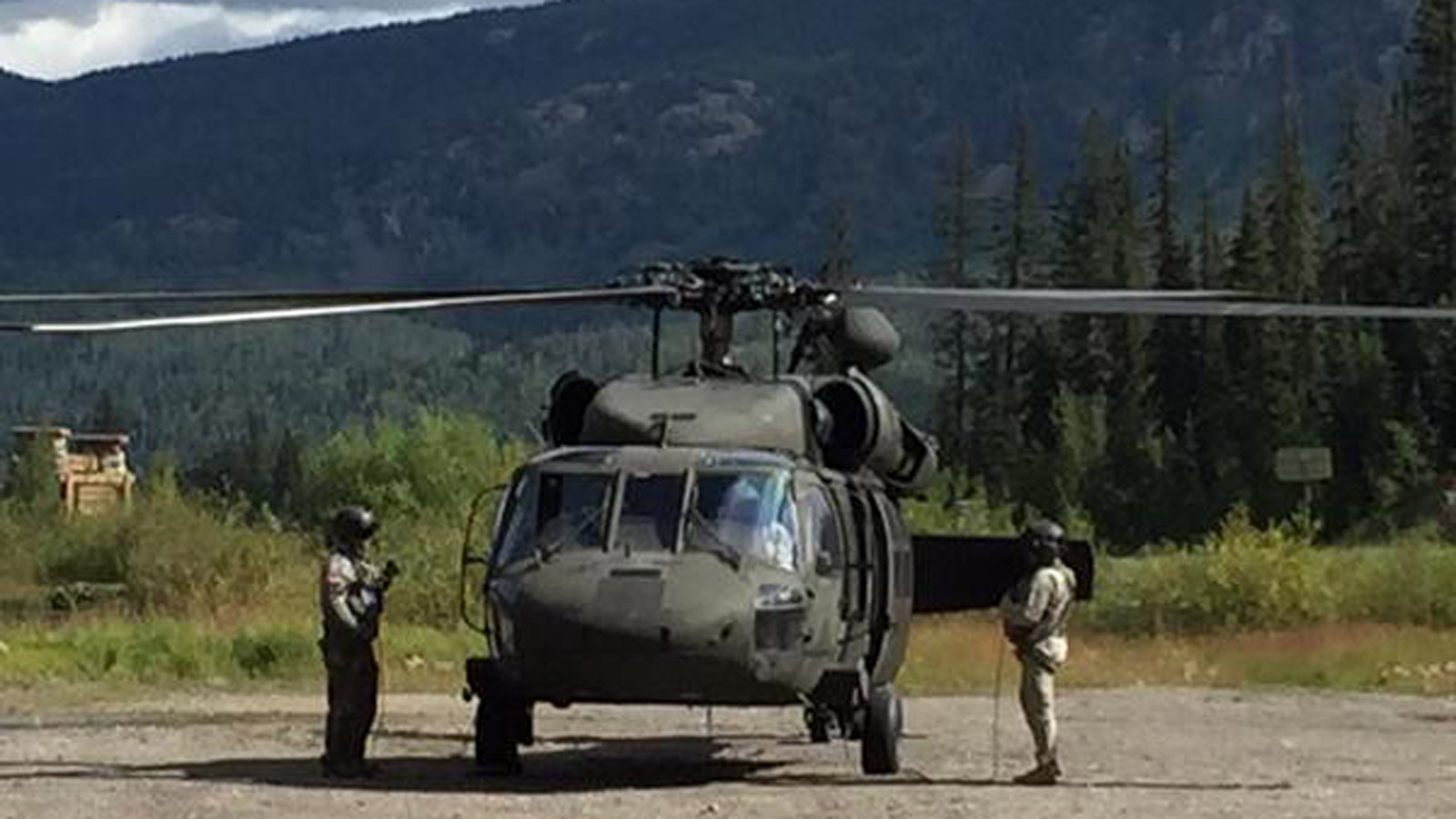 An image of the search and rescue operation (credit: Durango Herald)