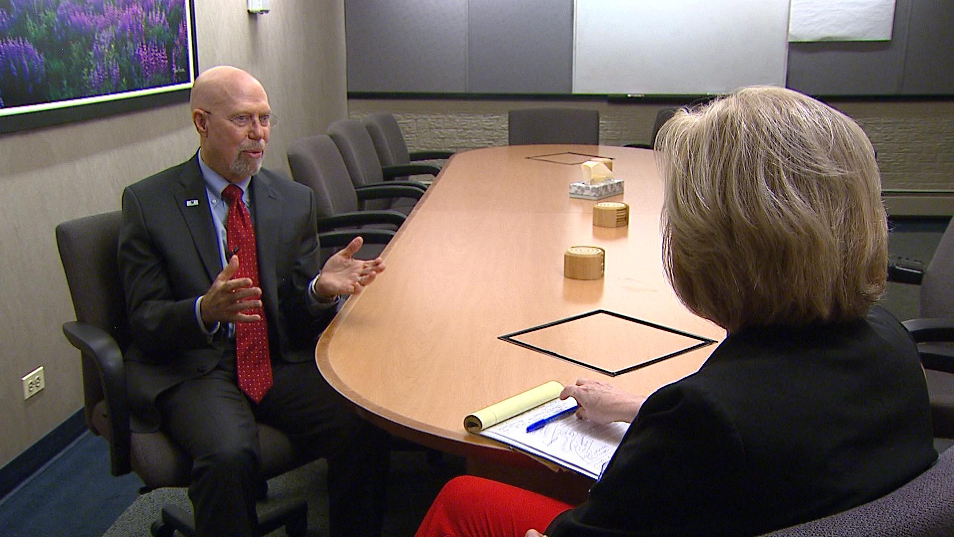Arthur Schut, President and CEO of Arapahoe House, talks with CBS4's Kathy Walsh (credit: CBS)