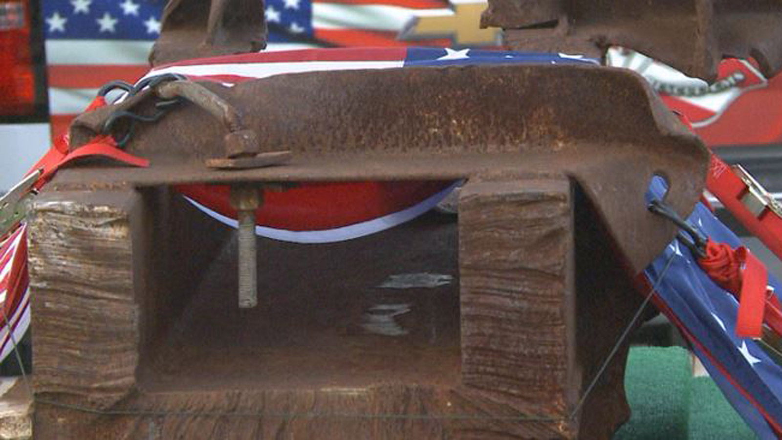 The WTC beam (credit: Poudre Fire Authority)