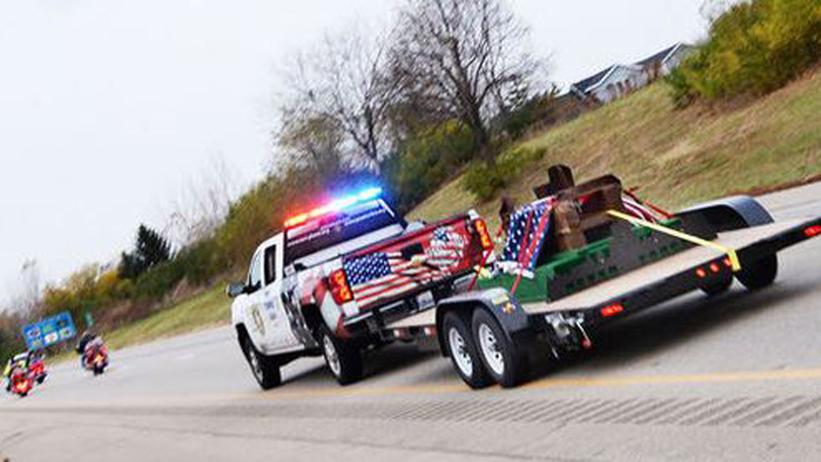 The WTC beam makes its way to Fort Collins (credit: Poudre Fire Authority)