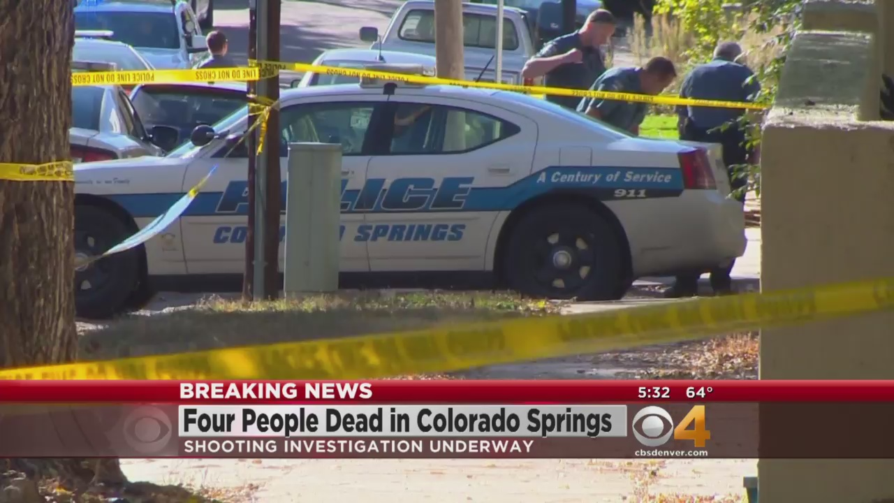 Police in Colorado Springs shot and killed a gunman, three others dead (credit: CBS)