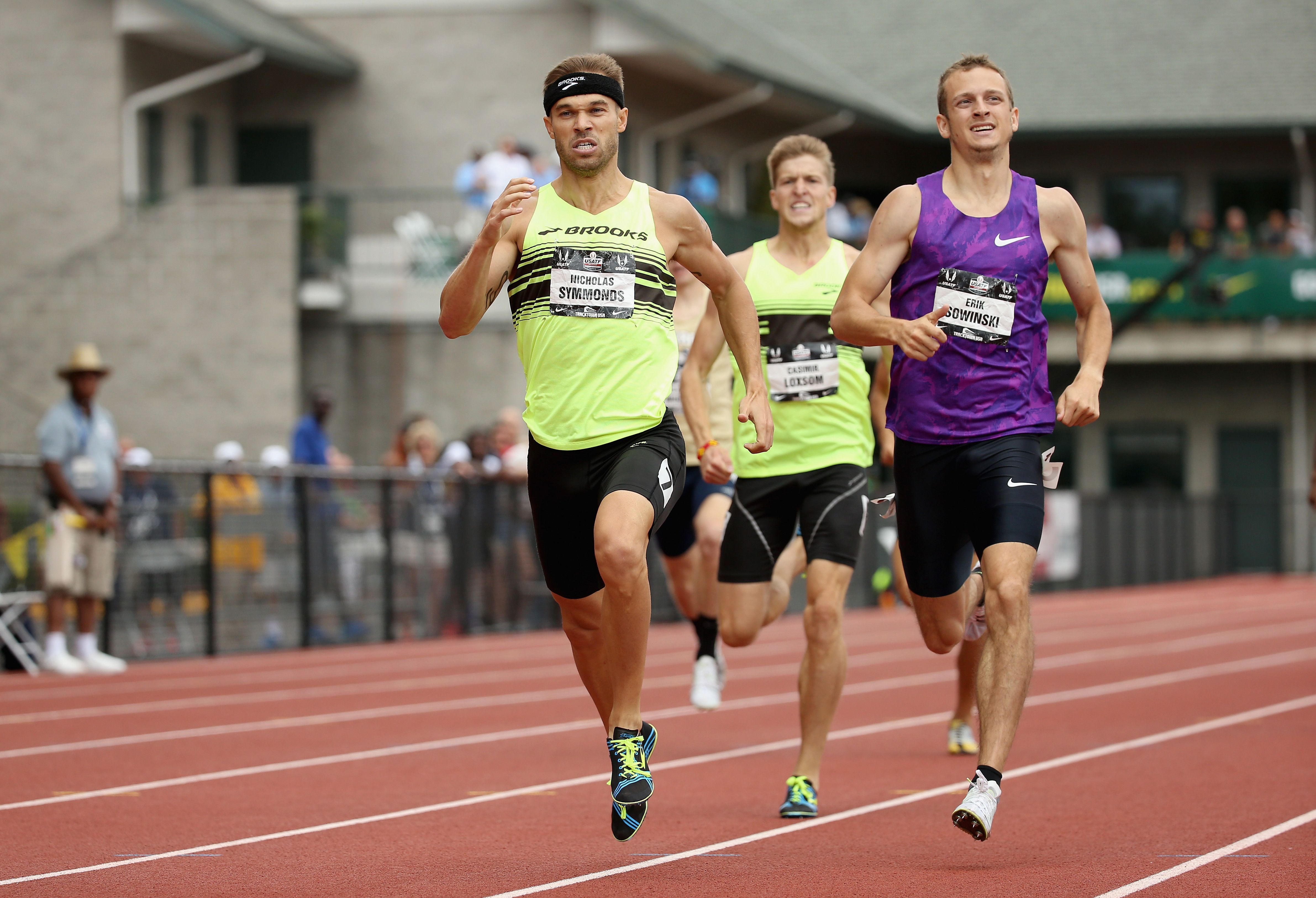 Nicholas Symmonds runs to victory in the Mens 800 Meter during day four of the 2015 USA Outdoor Track & Field Championships at Hayward Field on June 28, 2015 in Eugene, Oregon. (Photo by Andy Lyons/Getty Images)