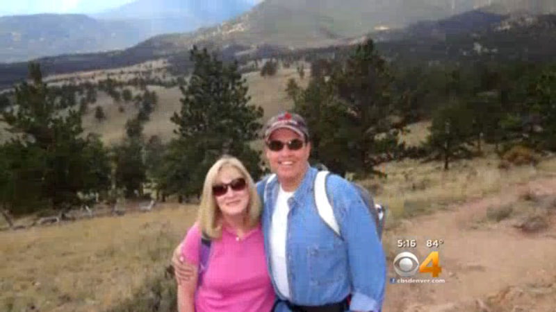 Toni and Harold Henthorn in Rocky Mountain National Park (credit: CBS)
