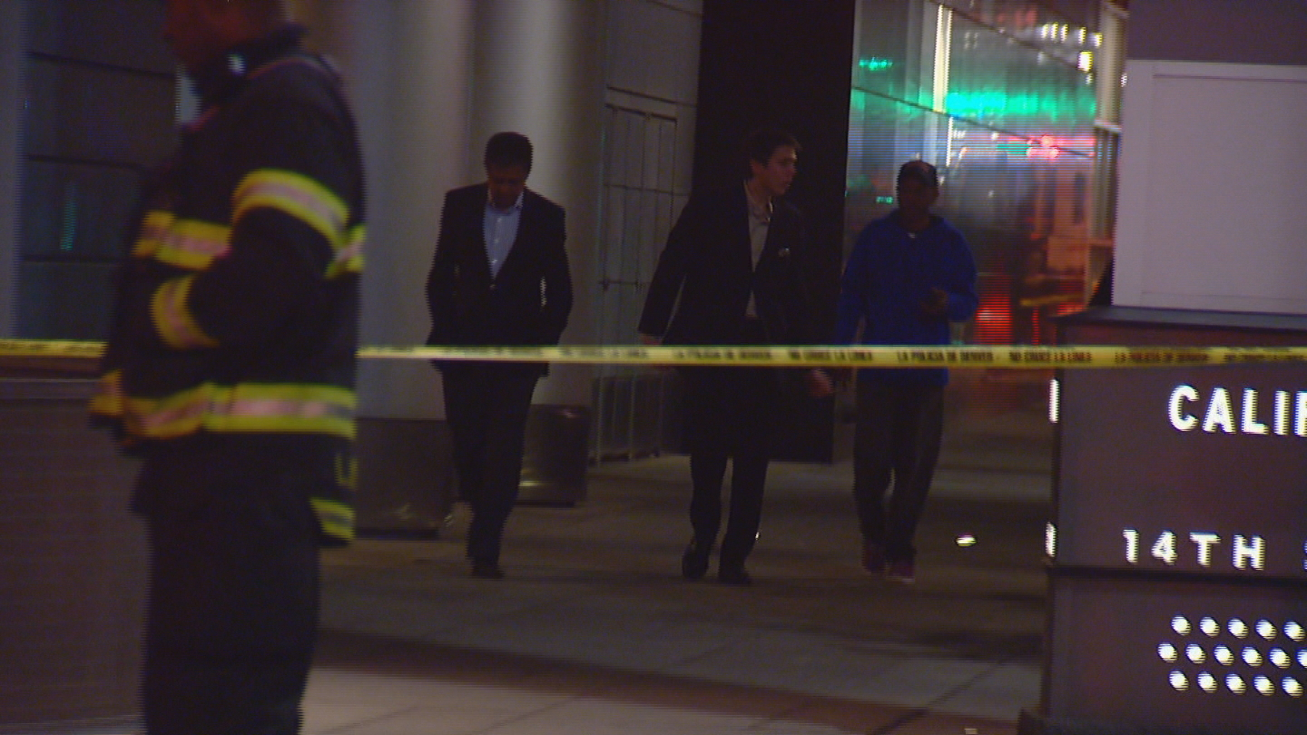 The Hyatt at the Colorado Convention Center was evacuated early Saturday (credit: CBS)