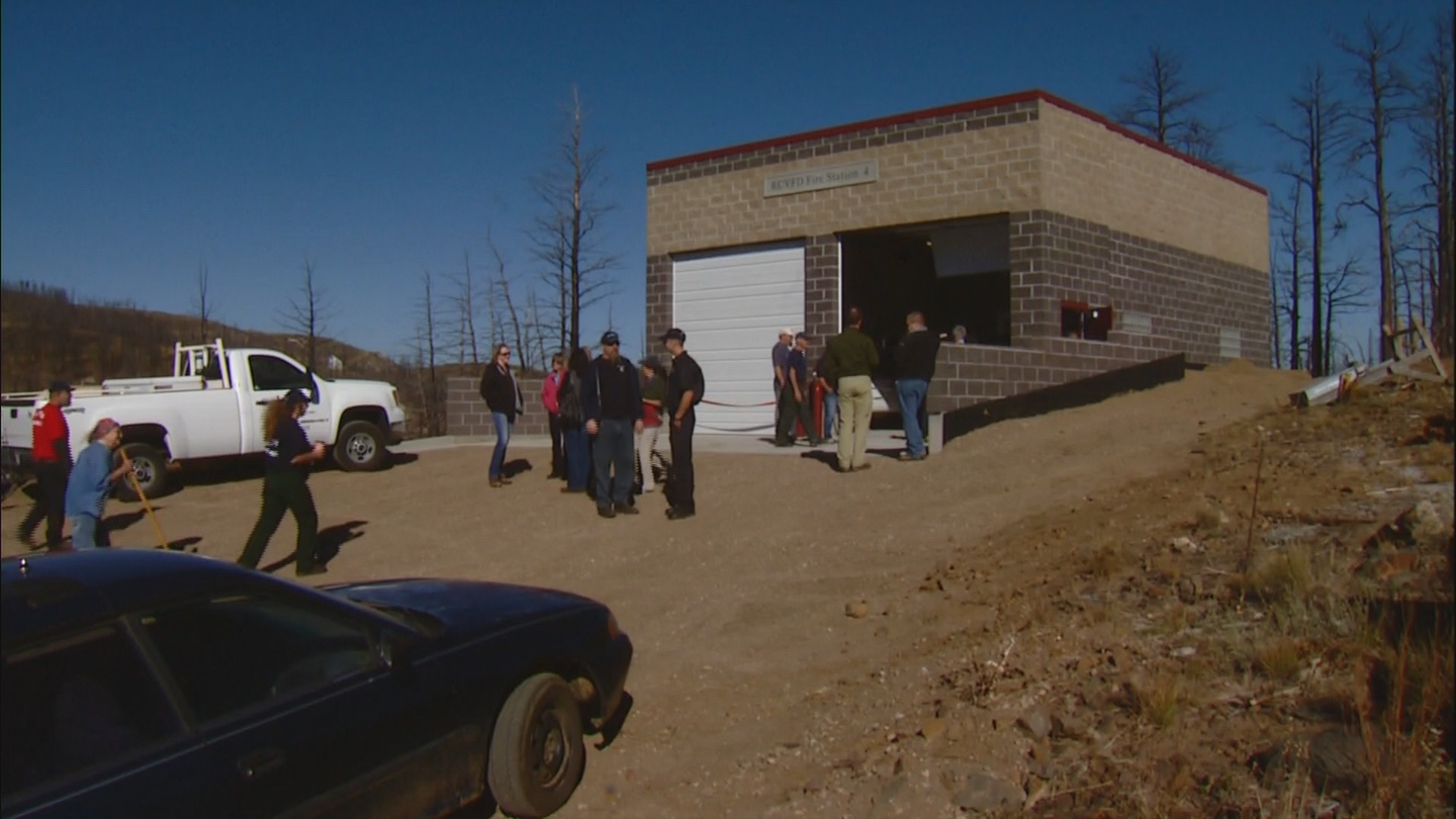 The new Rist Canyon fire house (credit: CBS)