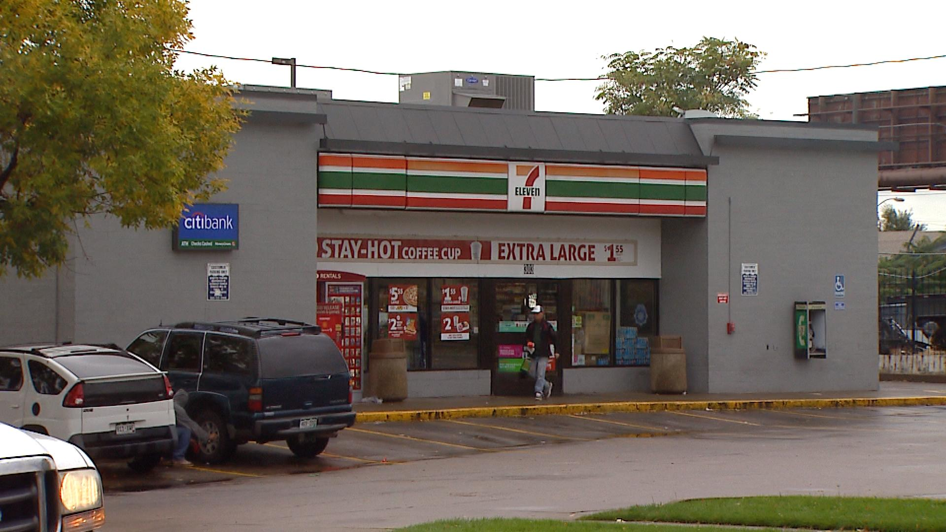 The 7-Eleven at West 3rd Avenue and Santa Fe Drive (credit: CBS)