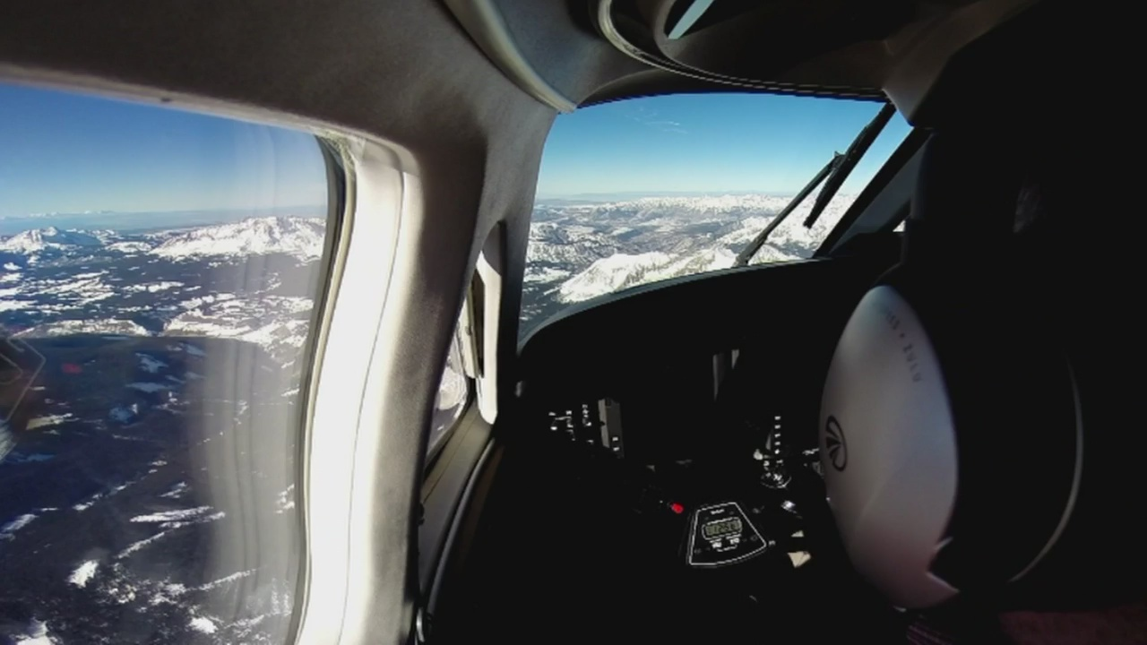 CBS4 Weather Watcher Phil Curry flies high over the skies of Colorado. (credit: CBS)
