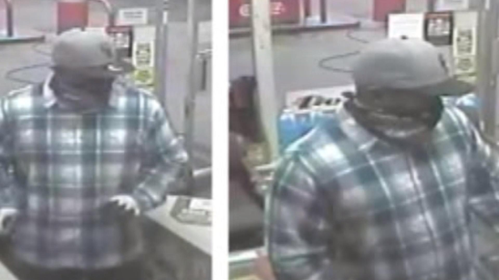 The Conoco station robbery suspect (credit: Denver Police Department)