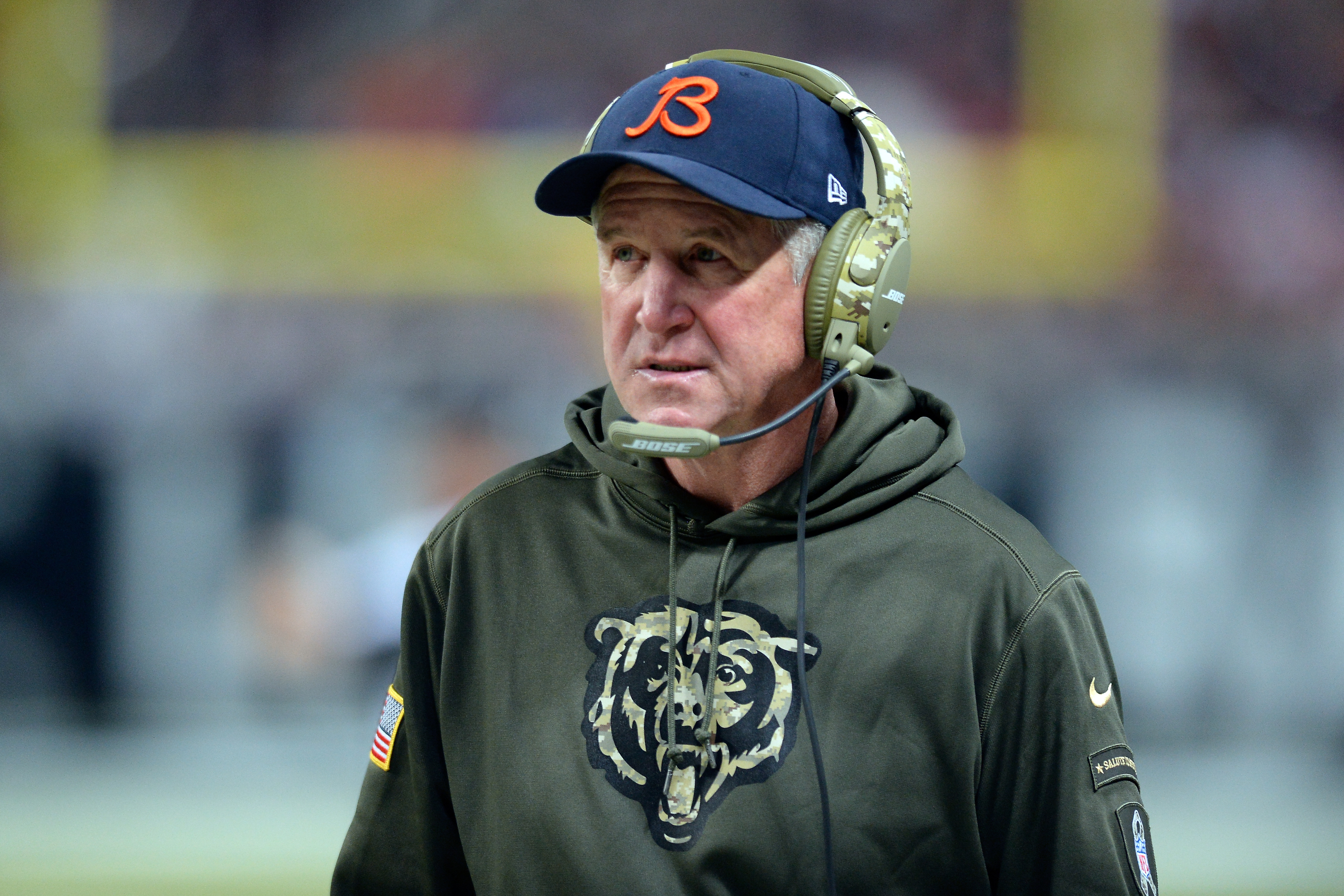 ST. LOUIS, MO - NOVEMBER 15: Head coach John Fox of the Chicago Bears watches from the sideline in the third quarter against the St. Louis Rams at the Edward Jones Dome on November 15, 2015 in St. Louis, Missouri. (Photo by Michael B. Thomas/Getty Images)
