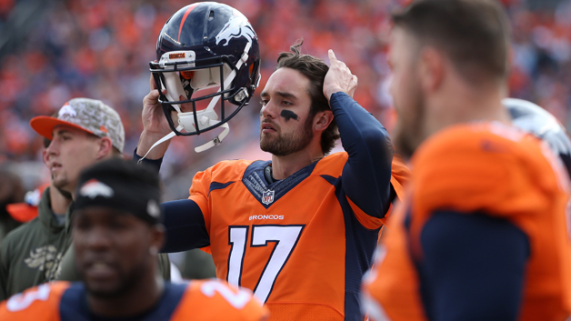 Quarterback Brock Osweiler #17 of the Denver Broncos looks on from the bench Kansas City Chiefs at Sports Authority Field at Mile High on November 15, 2015. (credit: Doug Pensinger/Getty Images)