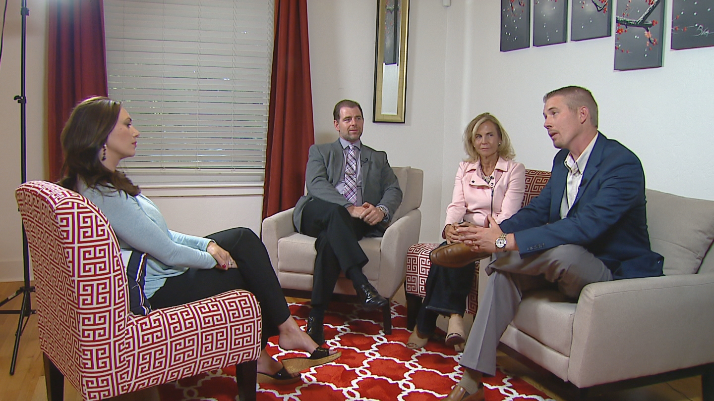 CBS4's Jennifer Brice interviews Ben Cort, Wendy Stine and Eric Lapp (credit: CBS)