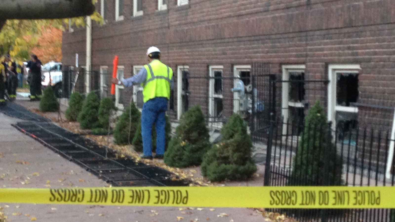 One woman was taken to the hospital after an explosion inside an apartment near 14th and Logan (credit: CBS)