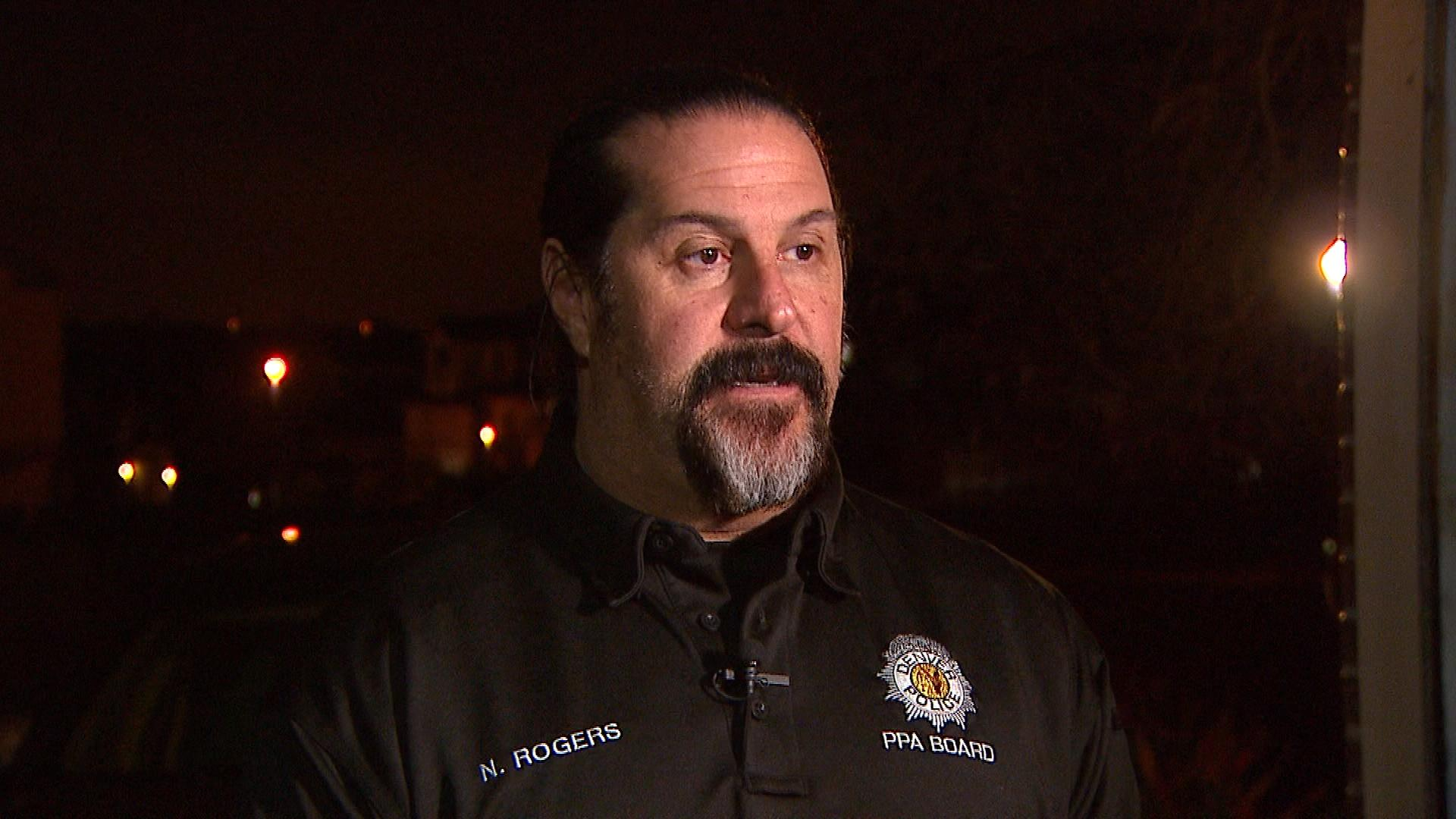 Denver Police Protective Association President Nick Rogers (credit: CBS)