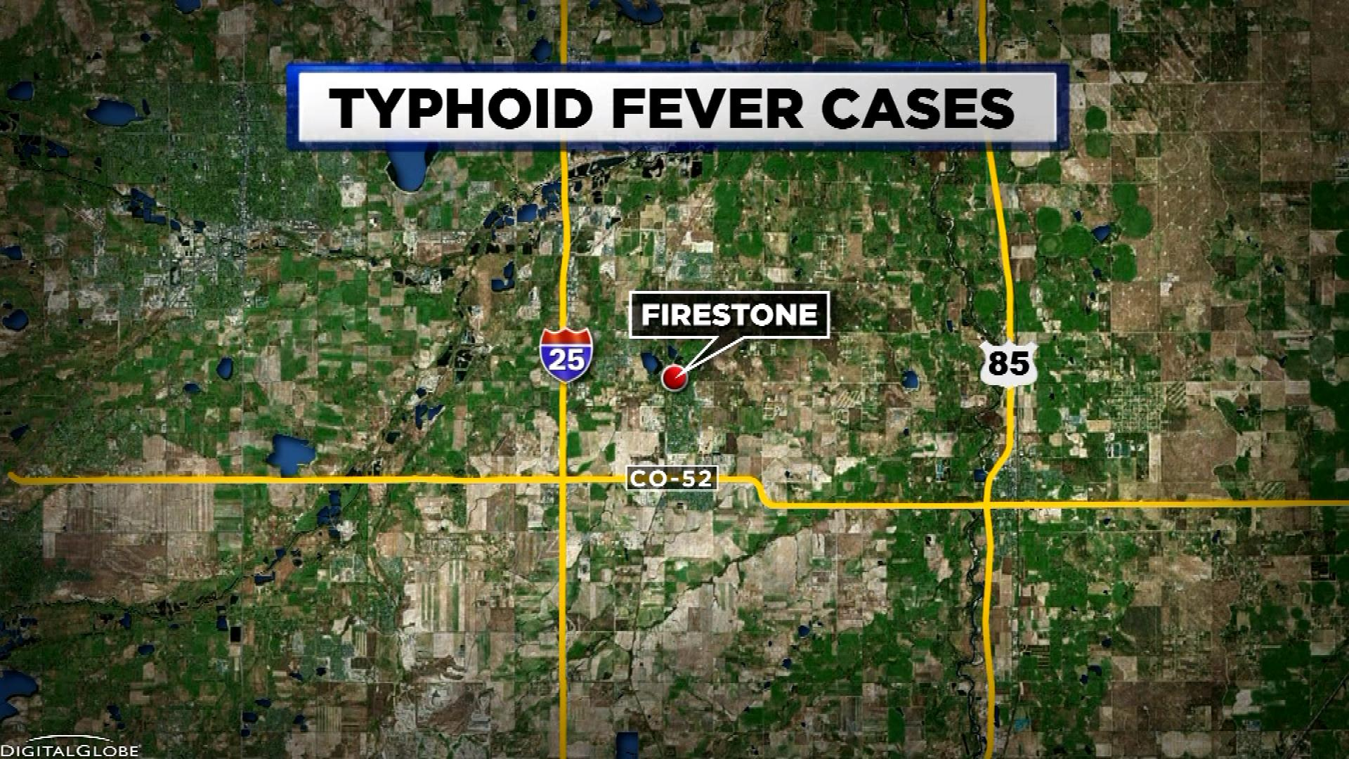 TYPHOID FEVER map