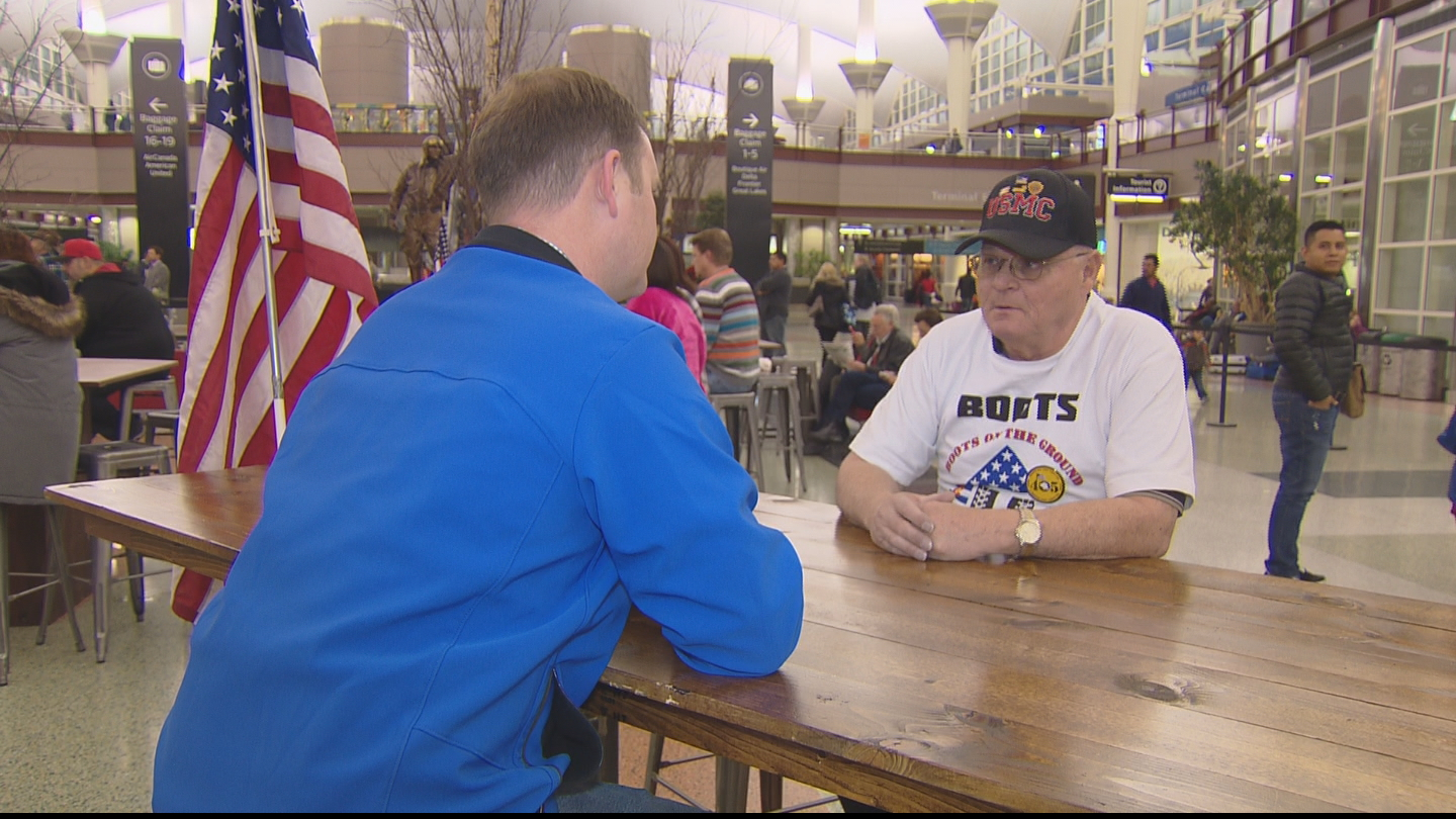CBS4's Jeff Todd interviews Wes Love with Boots 66 (credit: CBS)