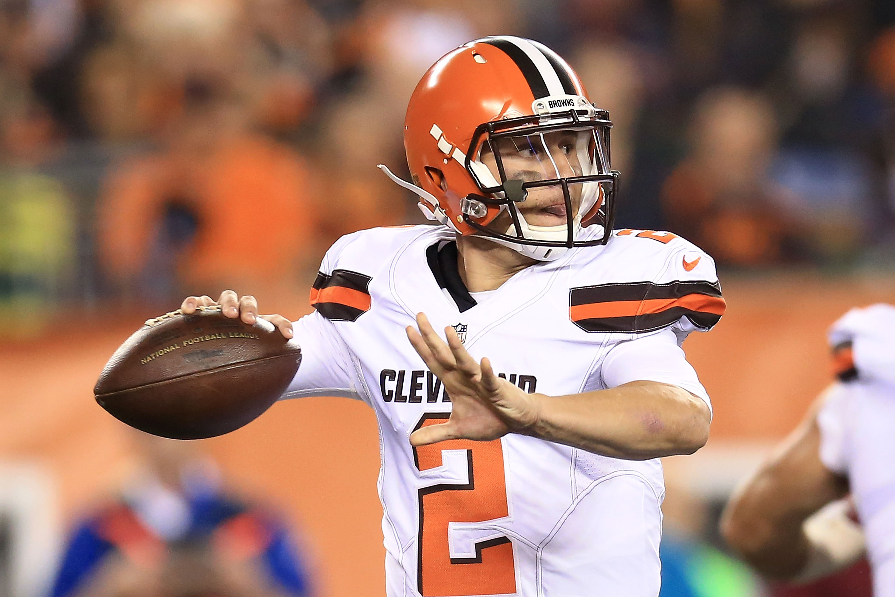 Johnny Manziel #2 of the Cleveland Browns (Photo by Andrew Weber/Getty Images)