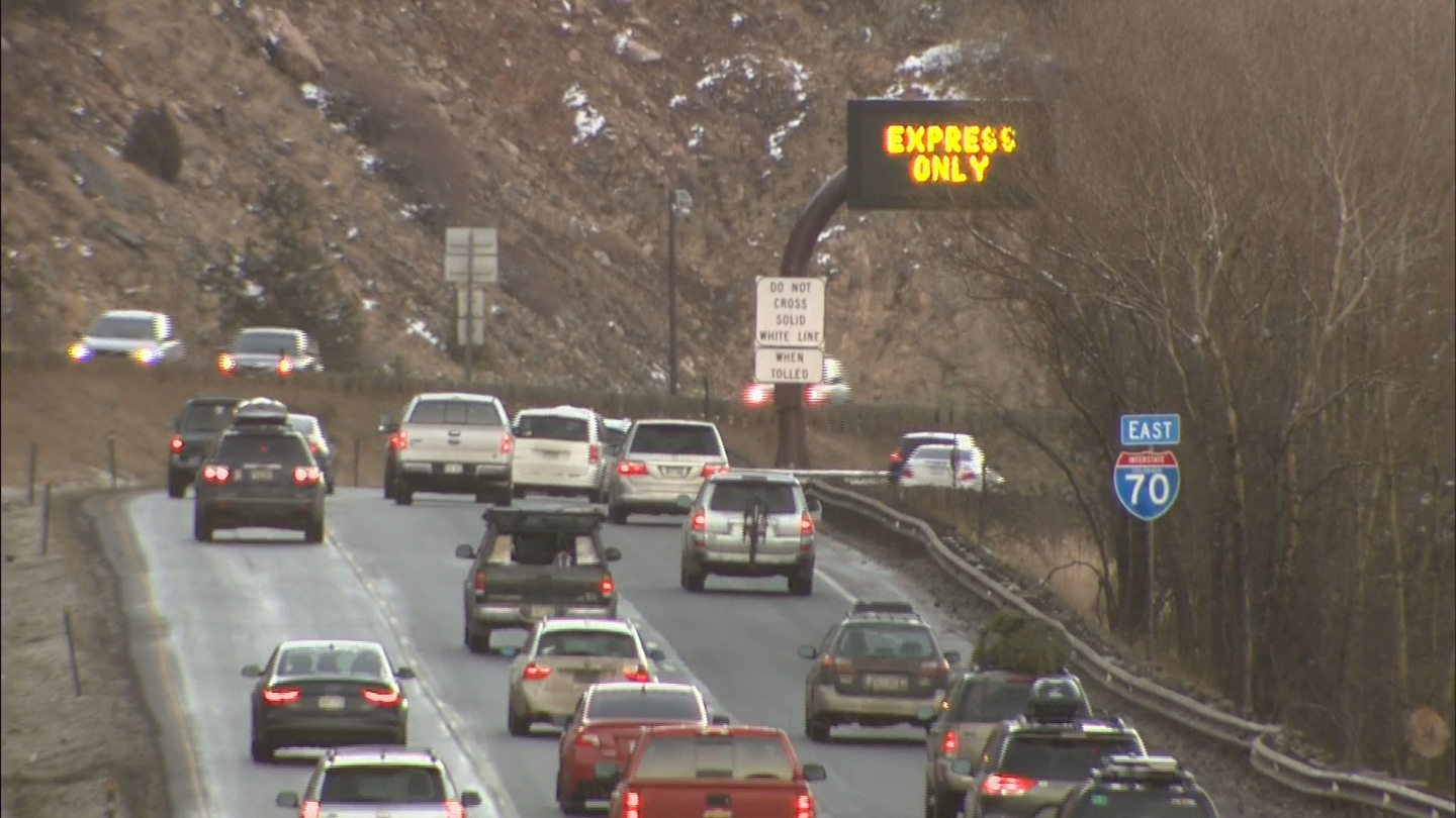 I-70 Mountain Express Toll Lane (credit: CBS)
