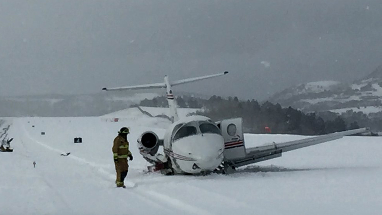 A small plane crashed at the Telluride Airport on Wednesday (credit: San Miguel Sheriff)