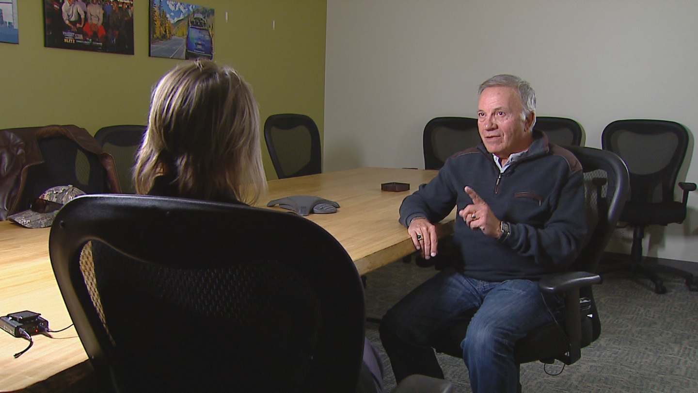 CBS4's Shaun Boyd interviews Tom Tancredo (credit: CBS)