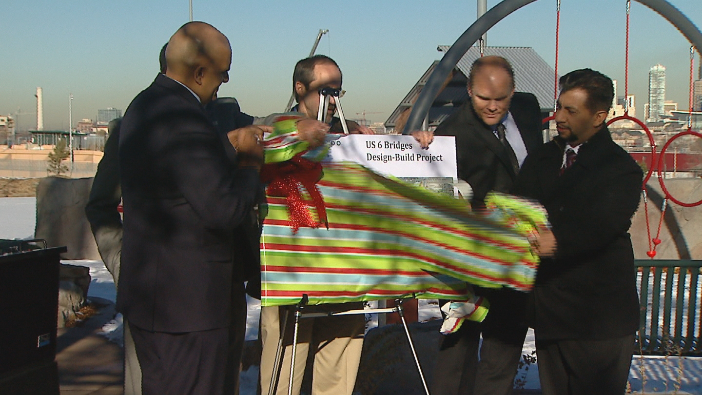 Unveiling the completion of the 6th Avenue bridge project (credit: CBS)