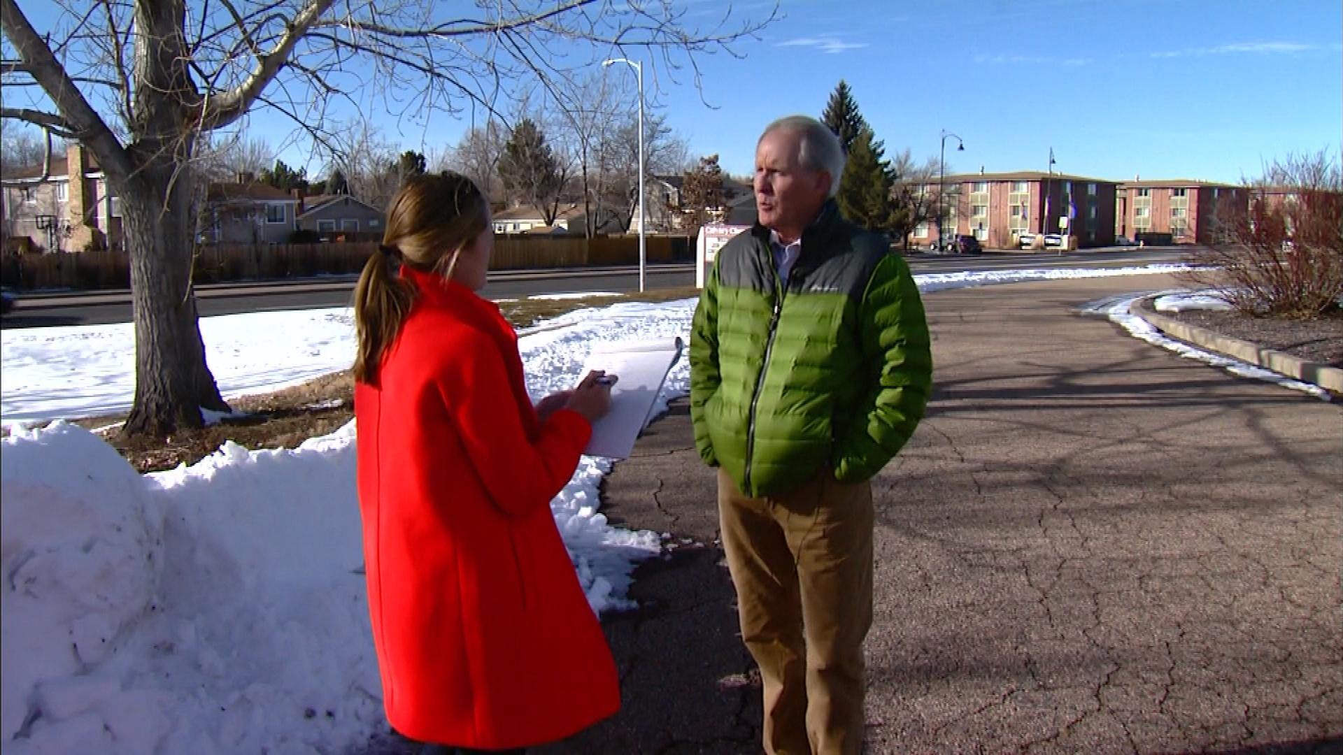 CBS4's Lauren DiSpirito interviews Calvary Church Senior Pastor Steve Kalb (credit: CBS)