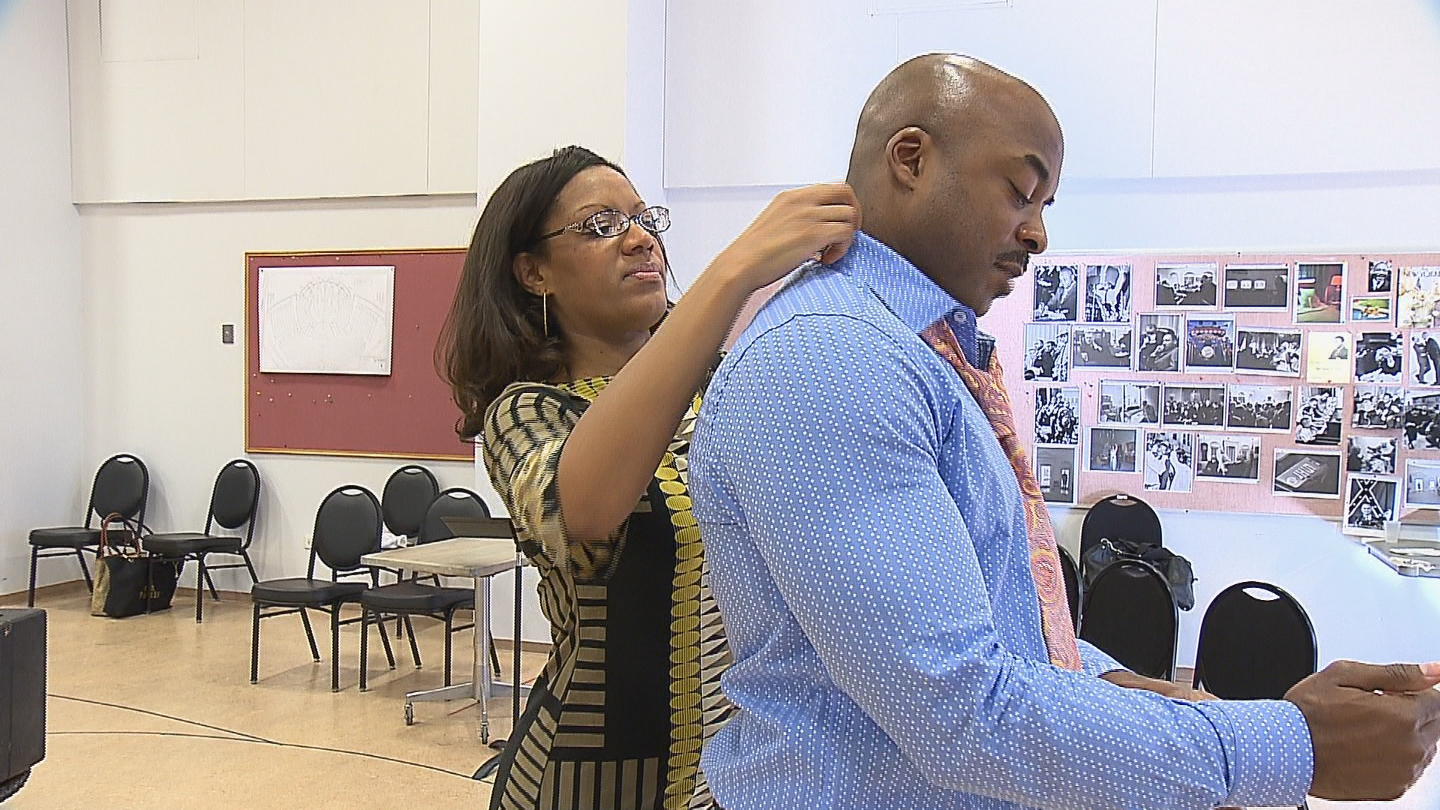 Rehearsal for the play 'All The Way' (Credit CBS)