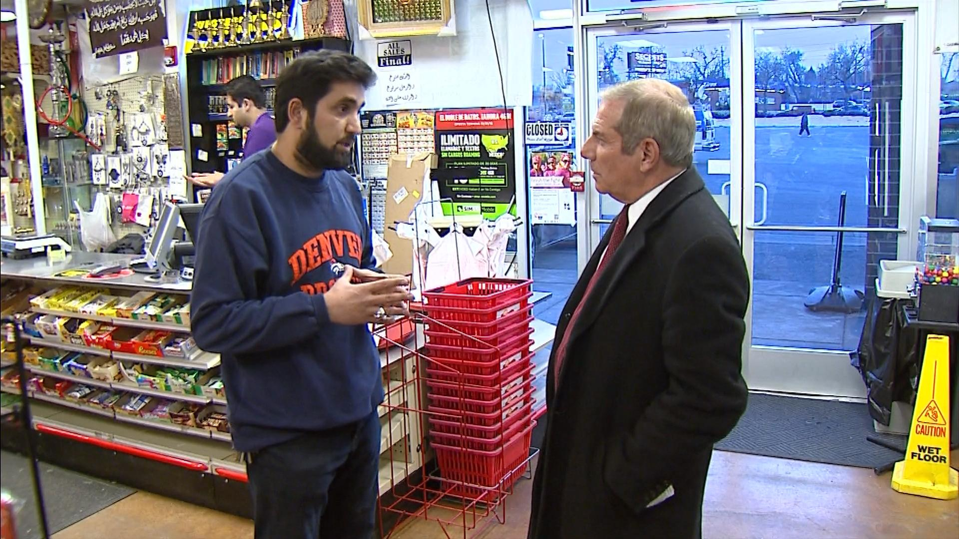 Mohammed Almosawi is interviewed by CBS4's Rick Sallinger (credit: CBS)