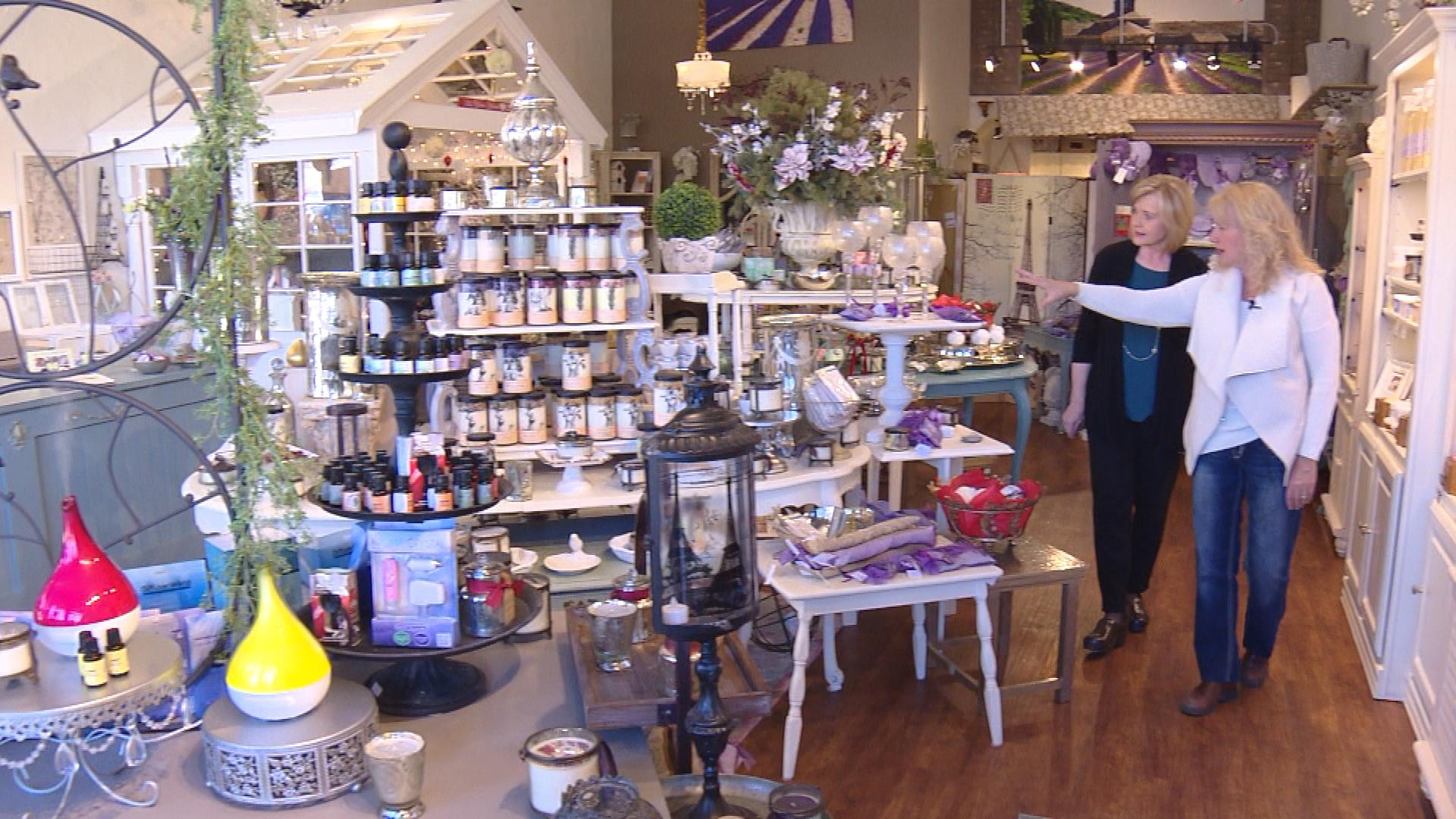 CBS4's Kathy Walsh with Crystal Baldwin in her shop Earth Sweet Botanicals in Golden (credit: CBS)