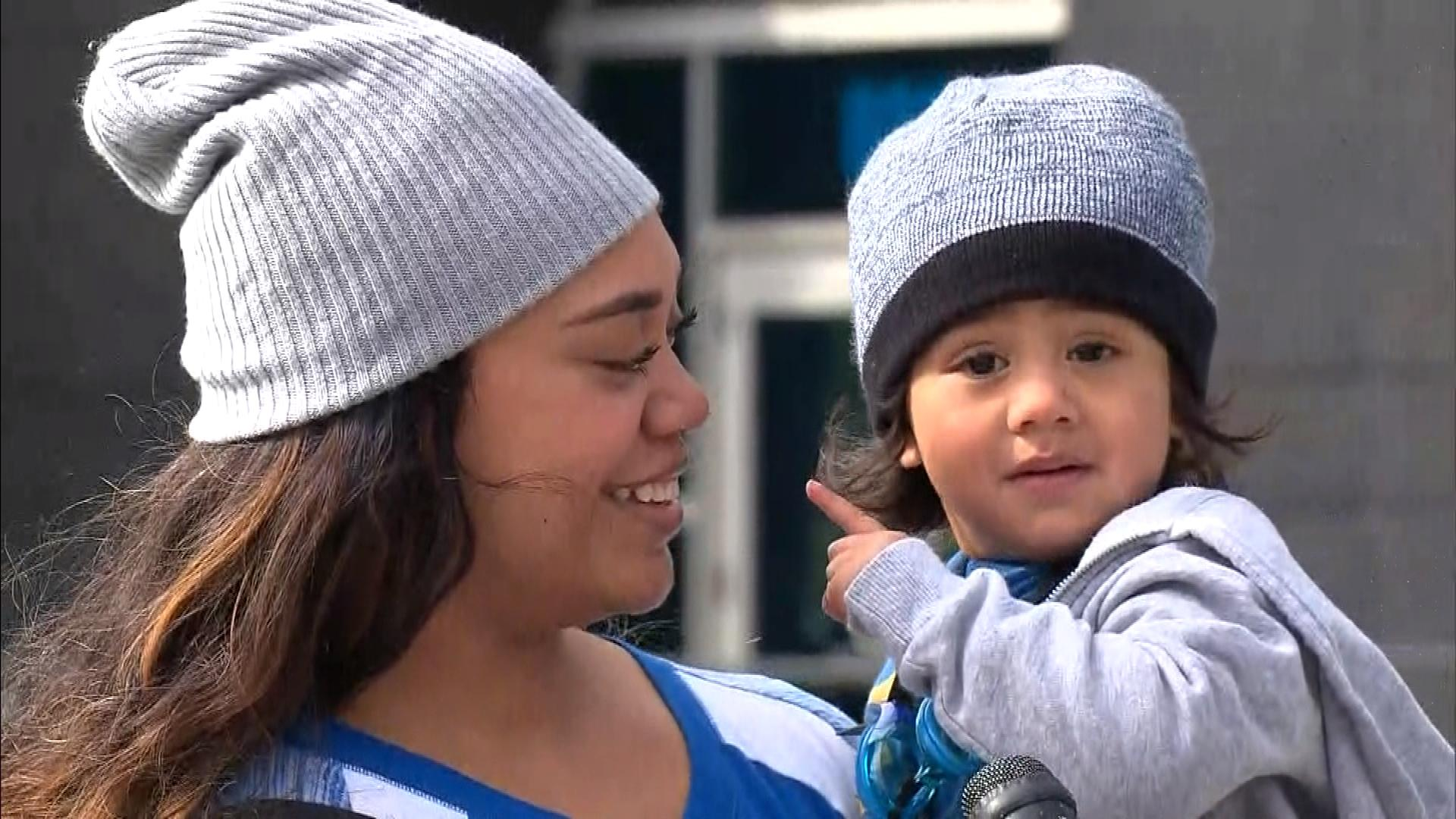 """A young Panthers fans says they're """"No. 1"""" (credit; CBS)"""