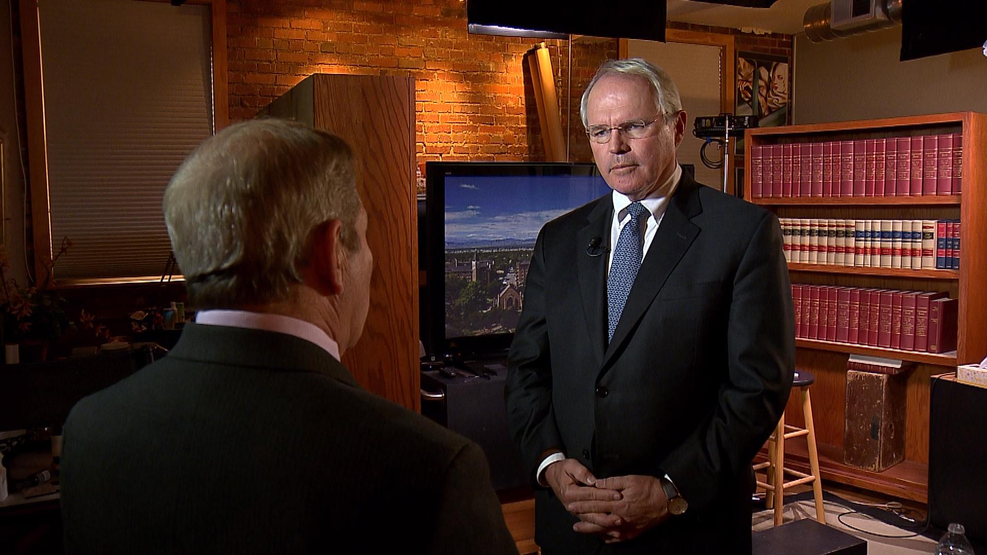 CBS4's Rick Sallinger interviews Dr. Chris Hill (credit: CBS)