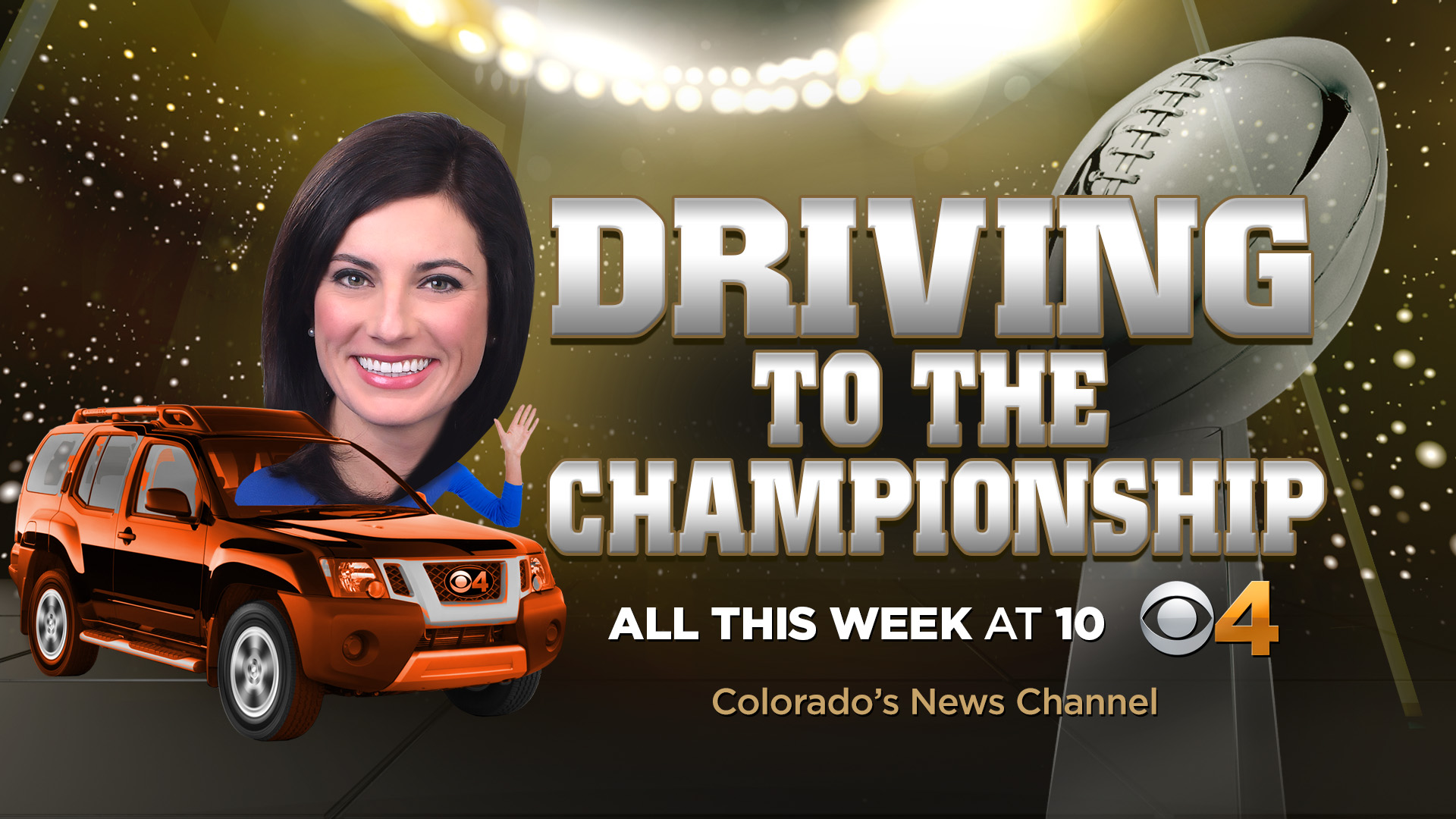 CBS4's Jamie Leary is driving to the Super Bowl and reporting from the road this week (credit: CBS)