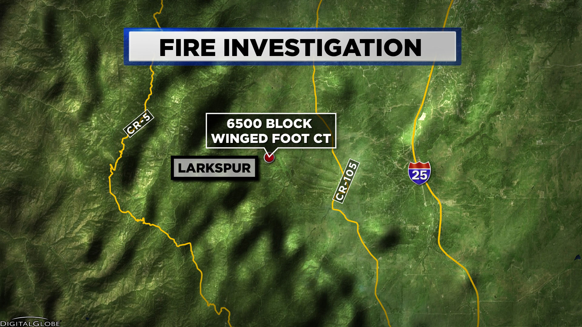 Fire Investigation Larkspur TOUCH MAP