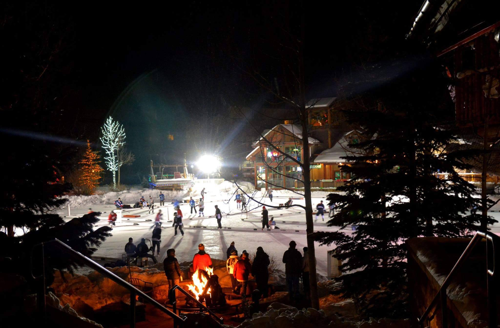 Night play at Dawg Nation Tourney at Copper Mountain (credit: Dawg Nation Hockey Foundation)